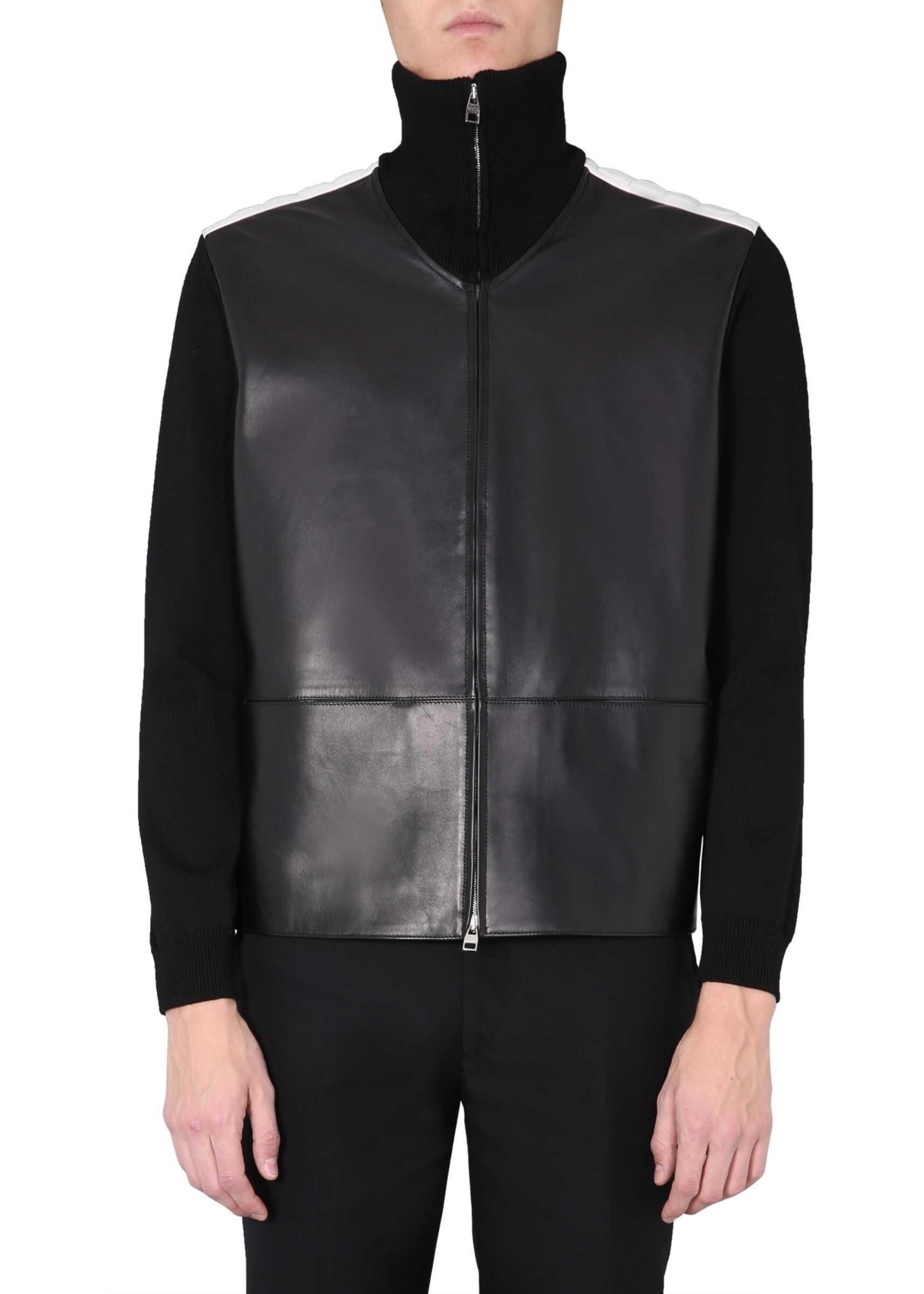 Alexander McQueen Leather Jacket BLACK imagine