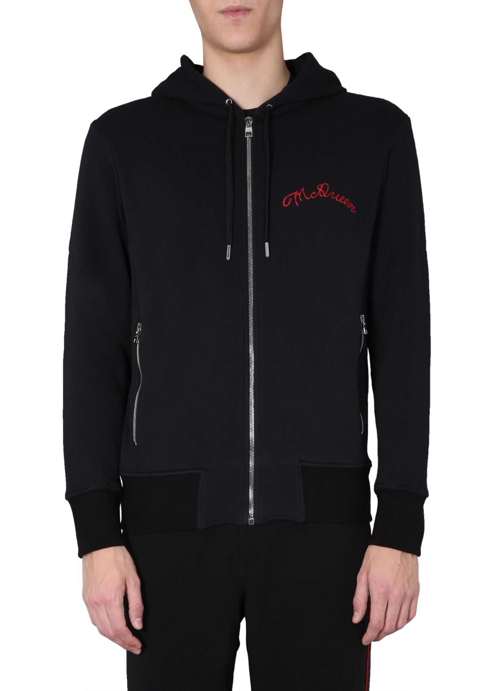 Zip And Hooded Sweatshirt