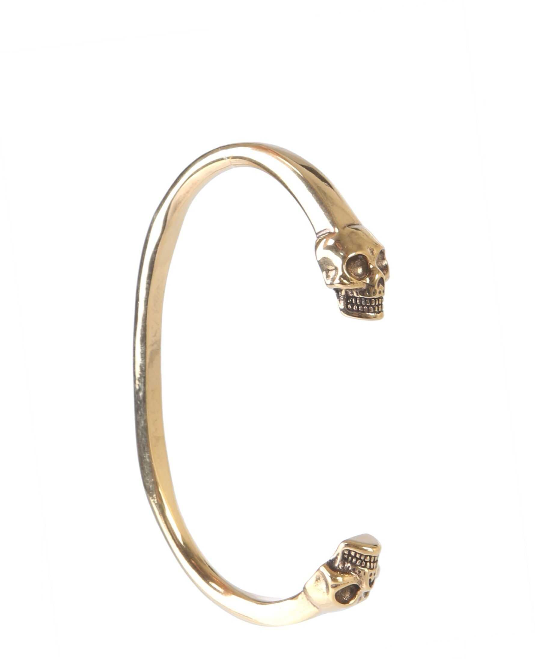 Alexander McQueen Double Skull Bracelet GOLD