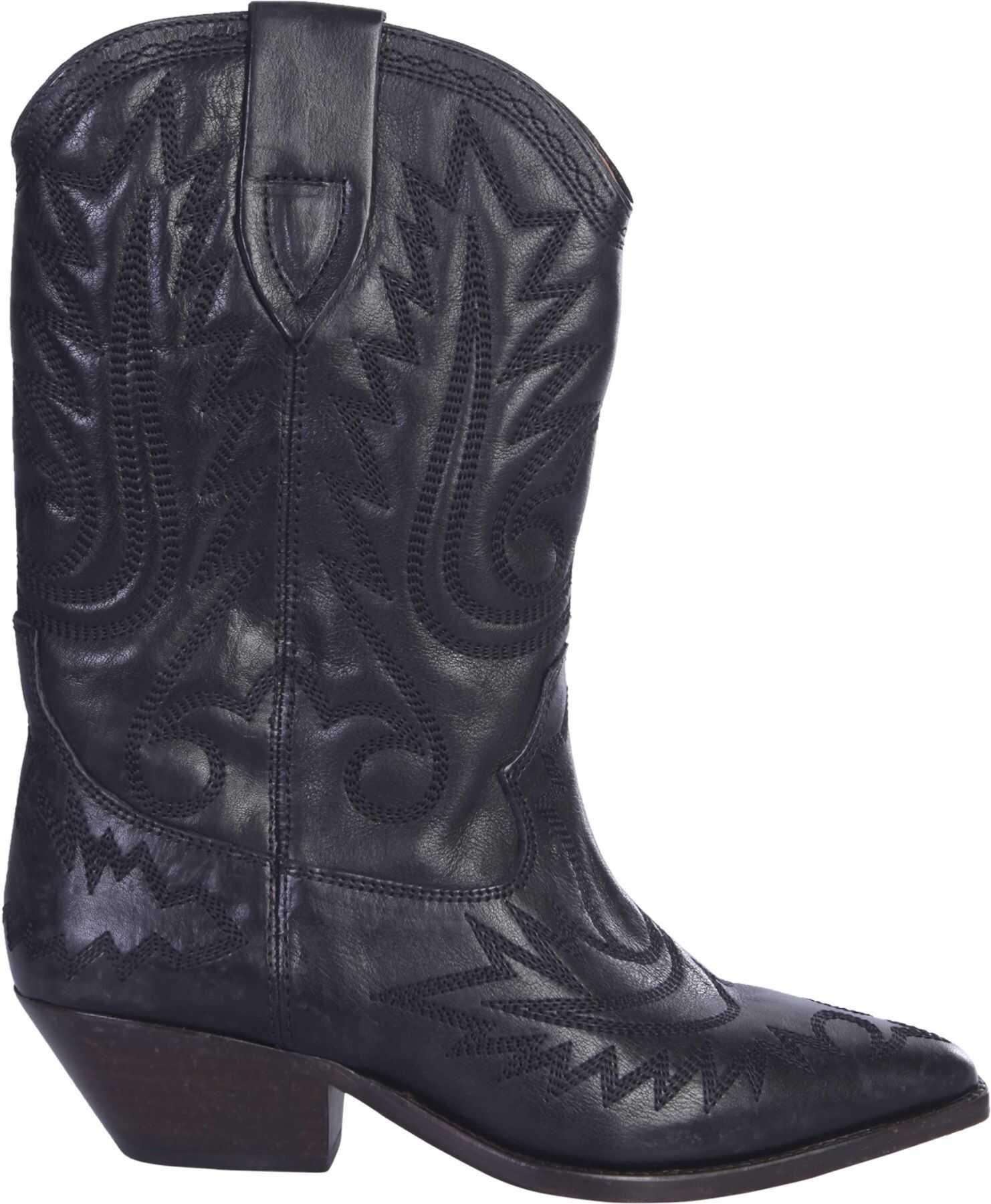 Isabel Marant Texan Duerto Boots BLACK