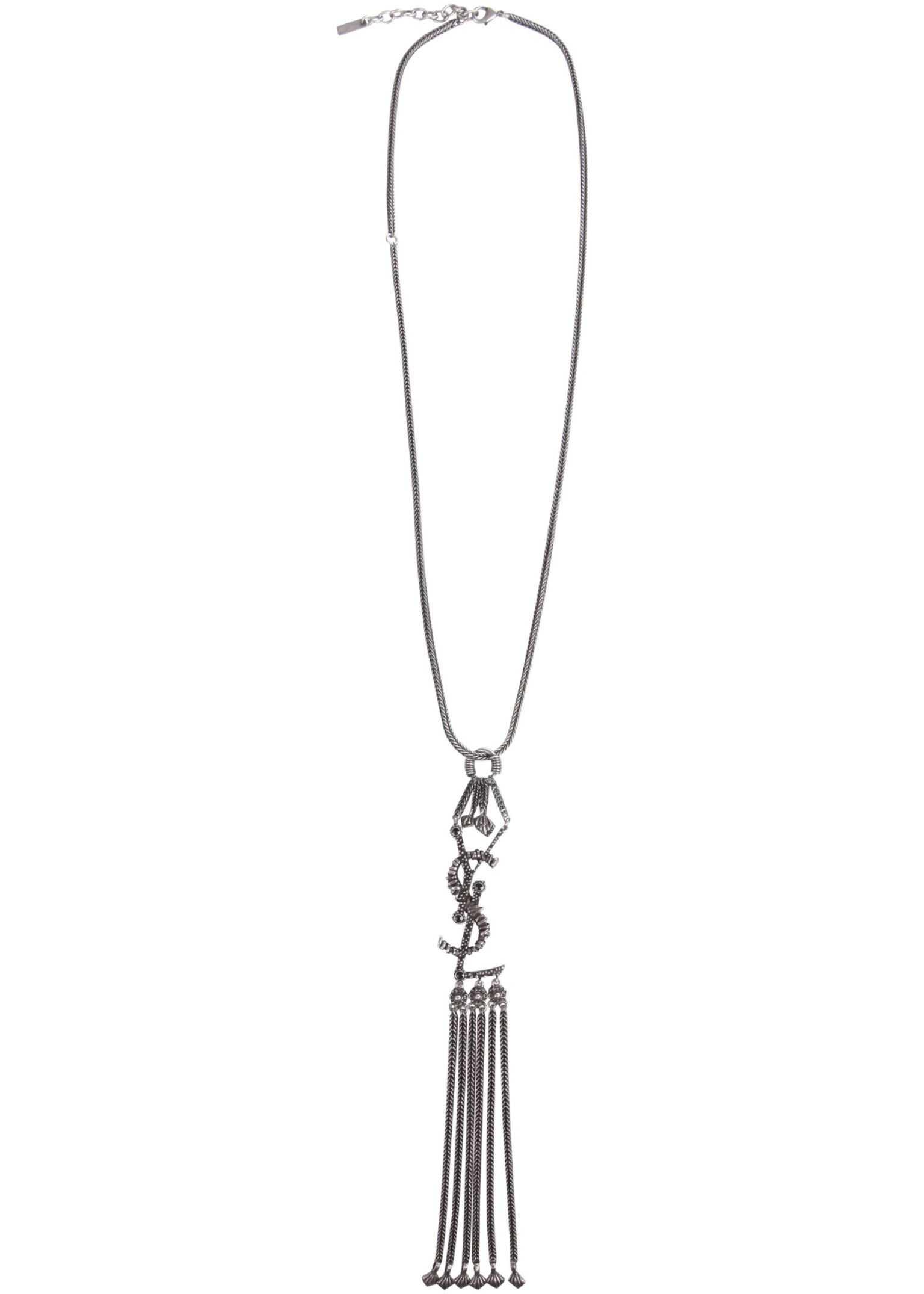 Saint Laurent Monogram Necklace SILVER