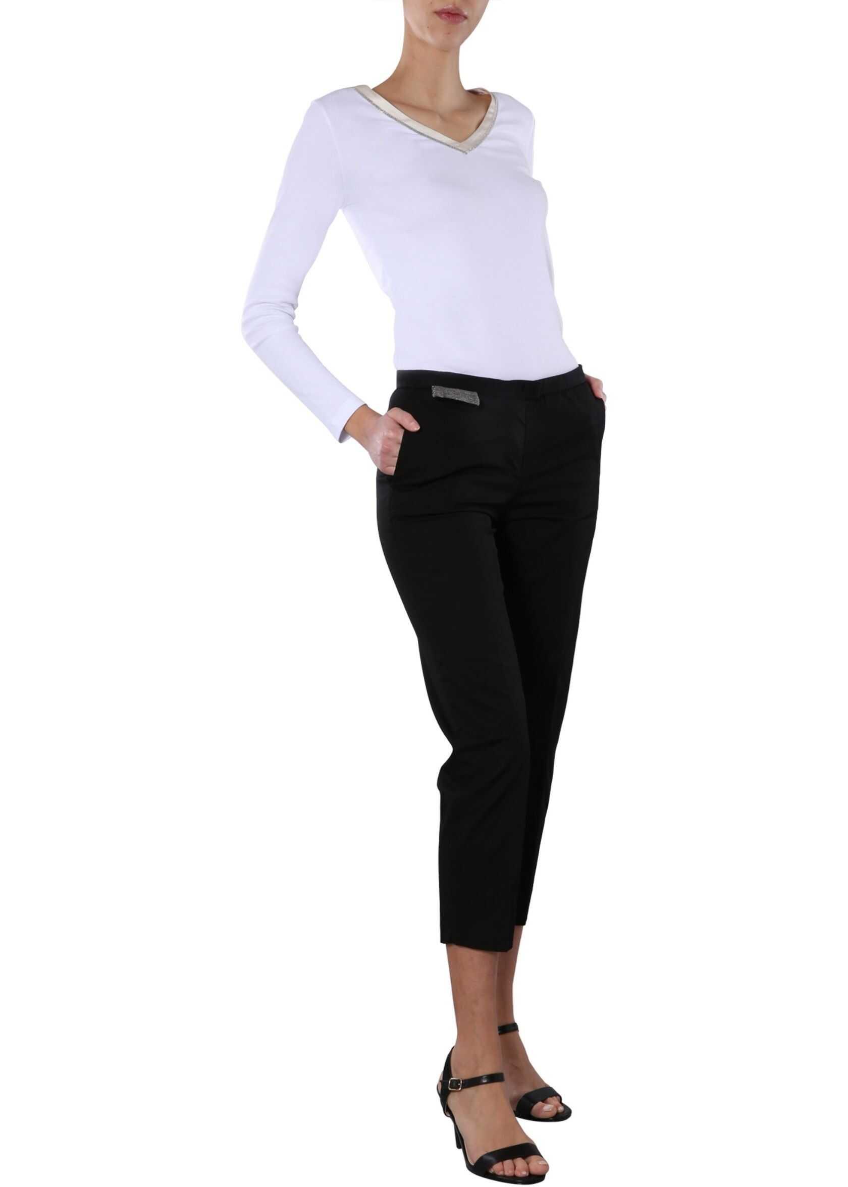 Fabiana Filippi Regular Fit Pants BLACK