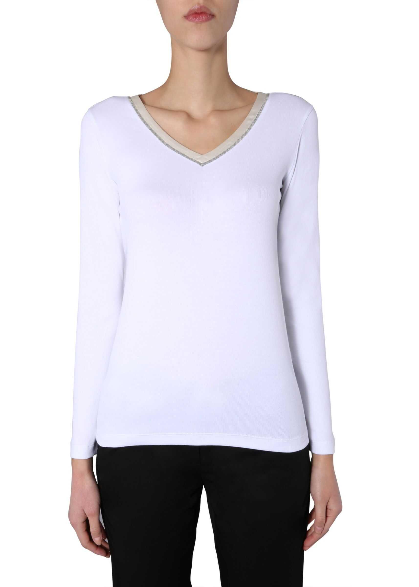 Fabiana Filippi V-Neck Sweater WHITE