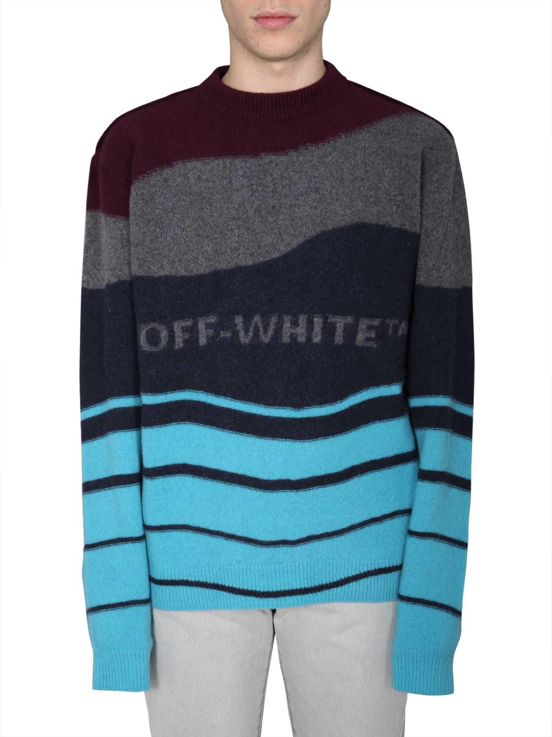 Off-White Crew Neck Sweater BORDEAUX