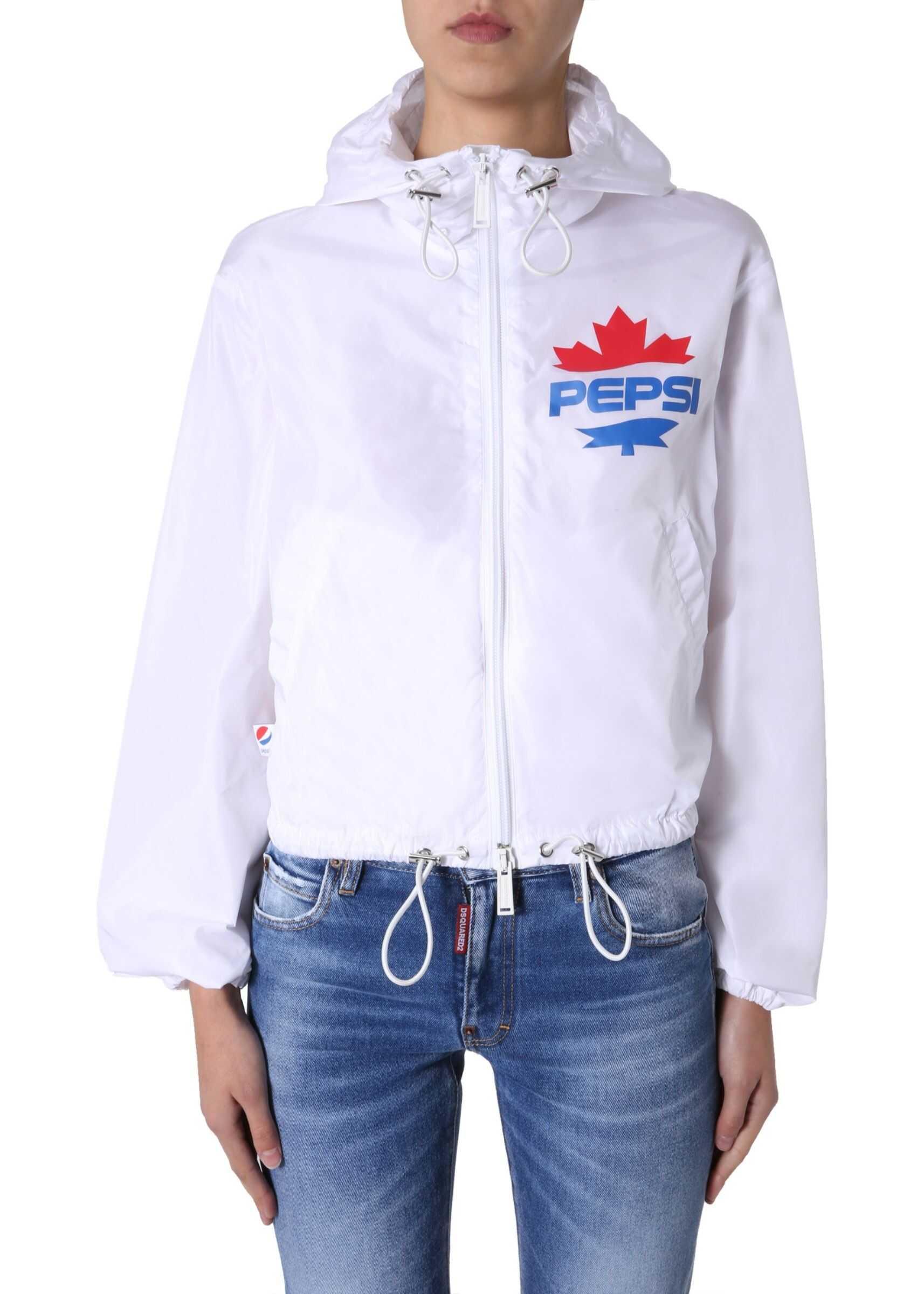 DSQUARED2 Wind Jacket WHITE
