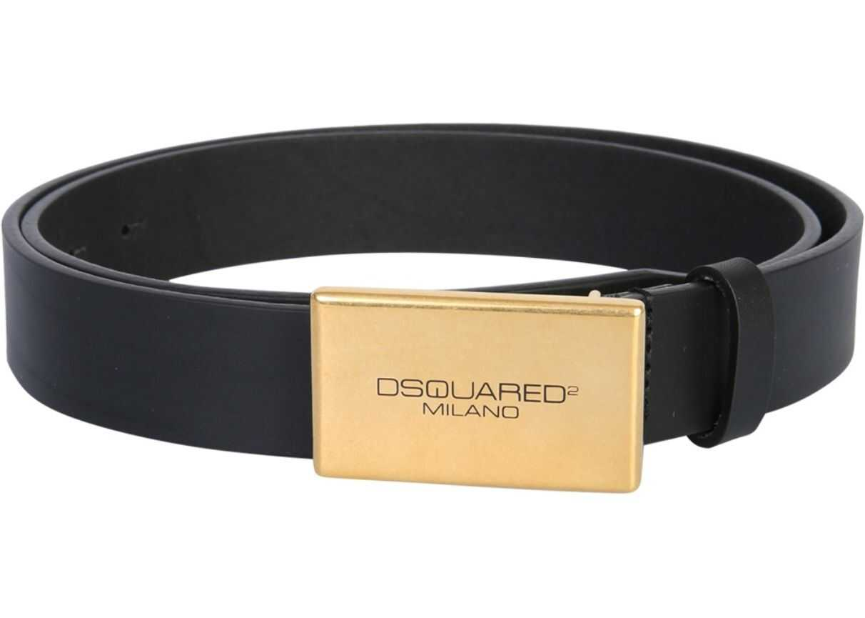 DSQUARED2 Belt With Buckle BLACK