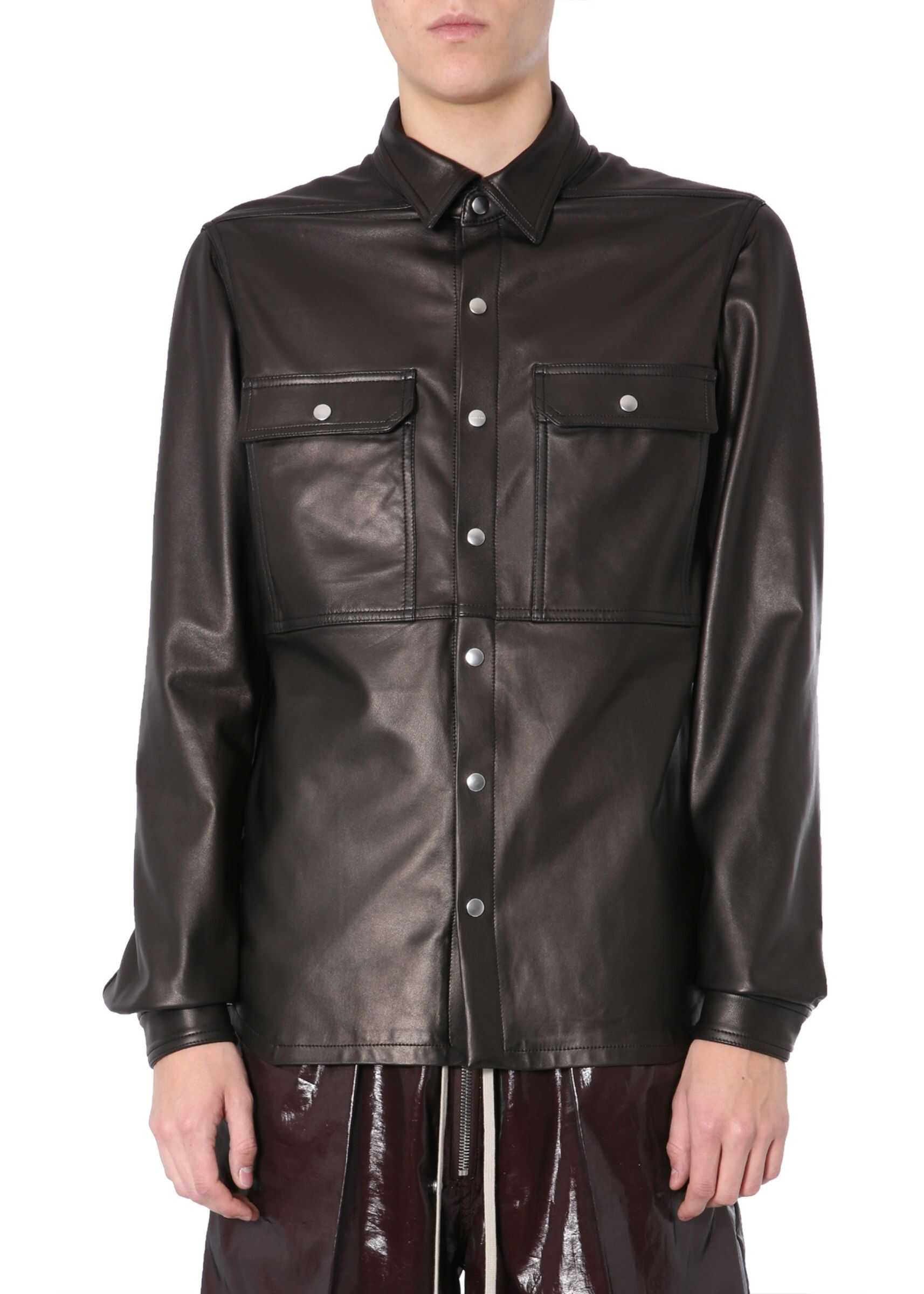 Rick Owens Leather Jacket BLACK