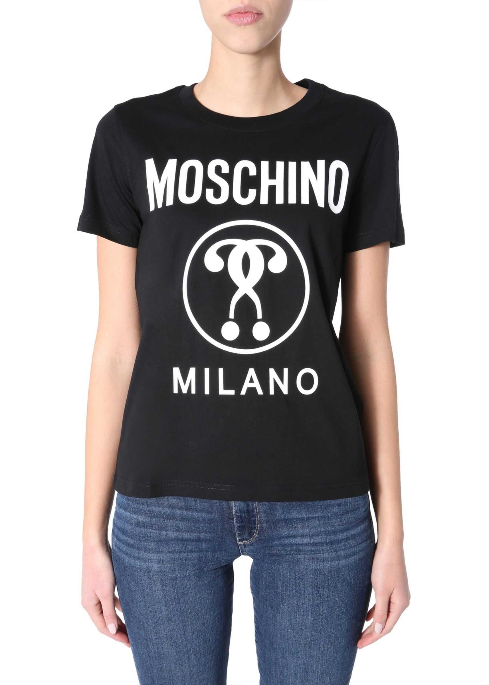 Moschino Round Neck T-Shirt BLACK