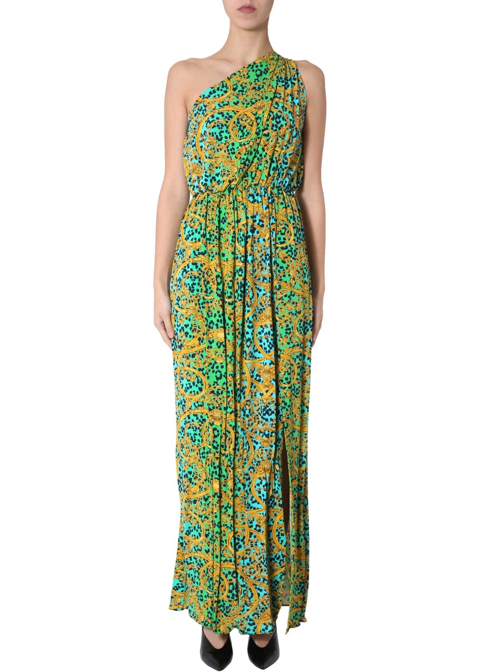 Versace Jeans Couture One Shoulder Dress GREEN
