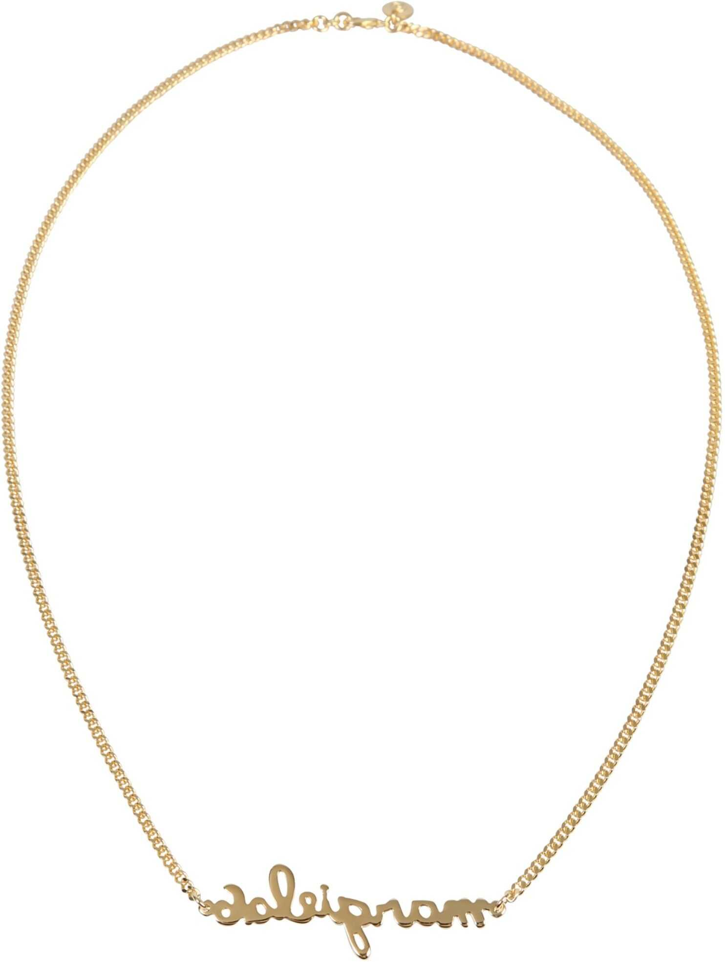 MM6 Maison Margiela Necklace With Lettering Logo GOLD