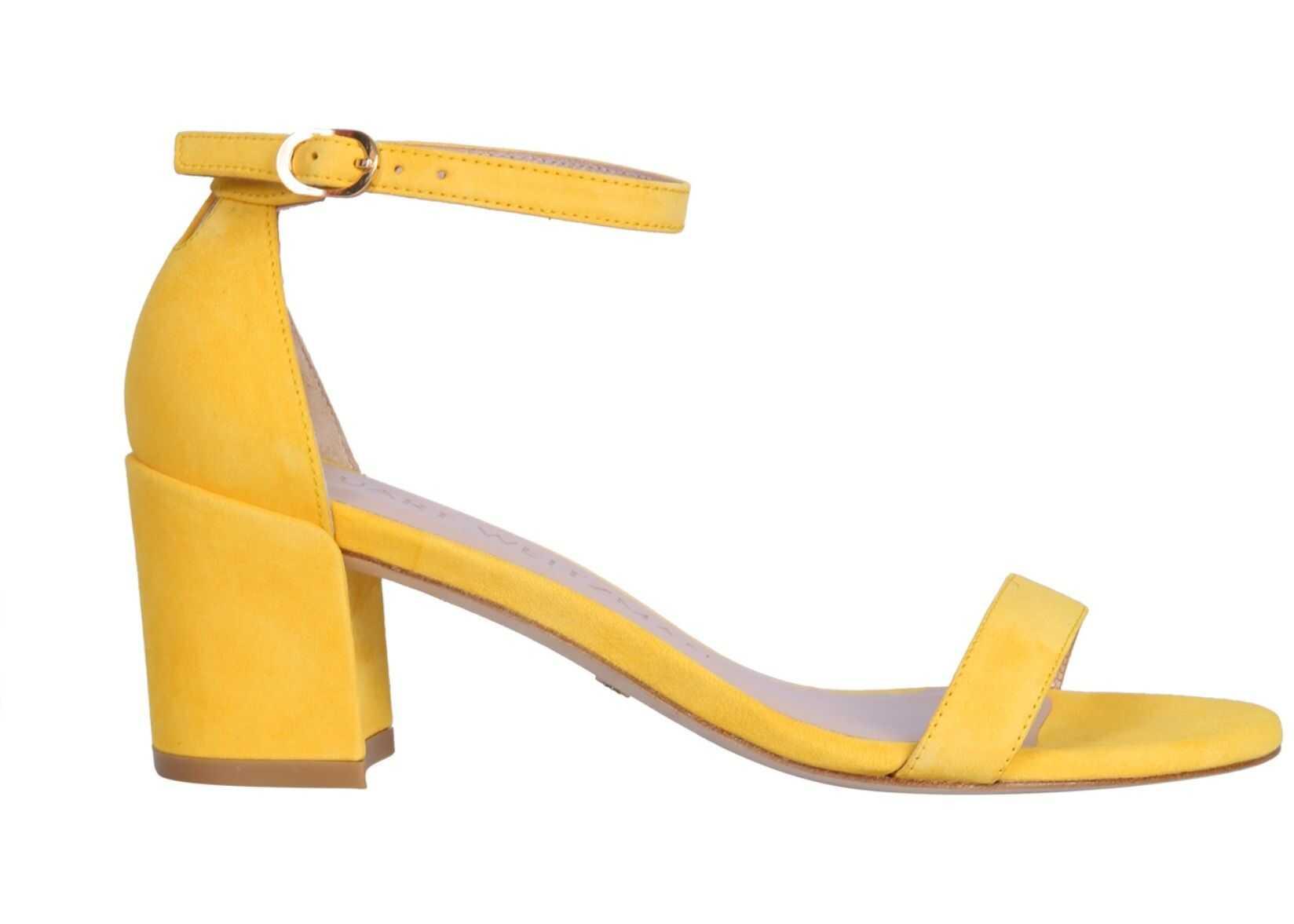 Stuart Weitzman Simple Sandal SIMPLE_SUEDESUNFLOWER YELLOW imagine b-mall.ro