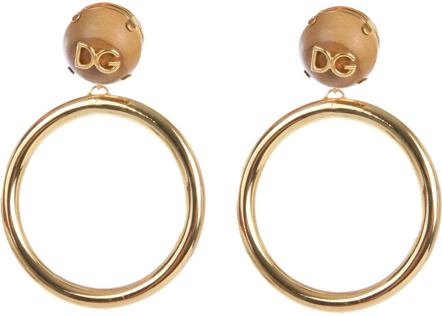 Dolce & Gabbana Earrings With Logo GOLD