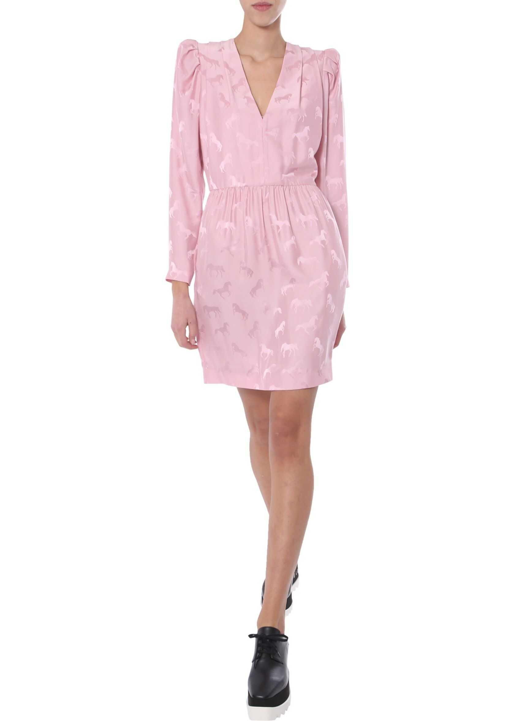 adidas by Stella McCartney V-Neck Dress PINK