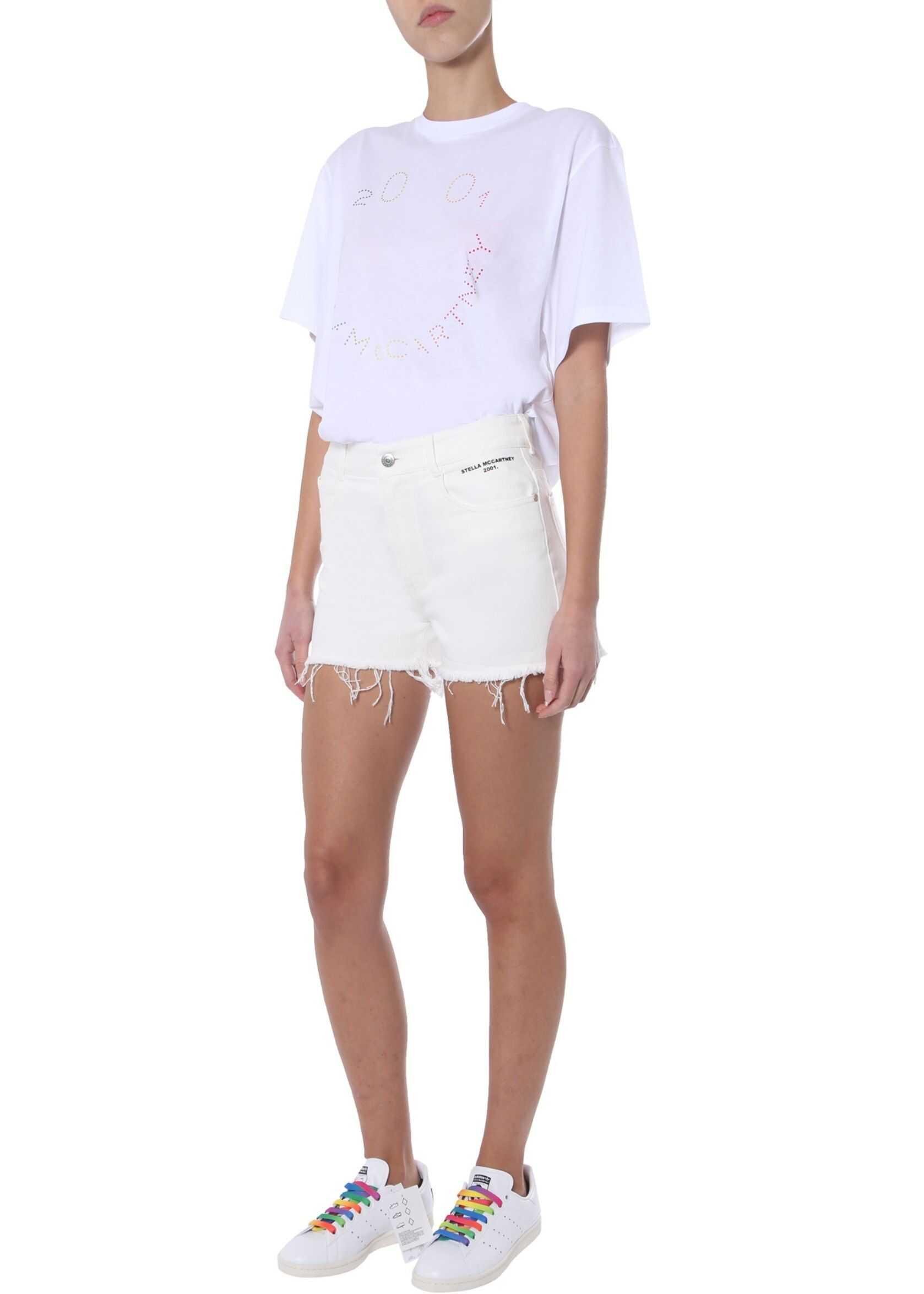 adidas by Stella McCartney Short With Logo WHITE