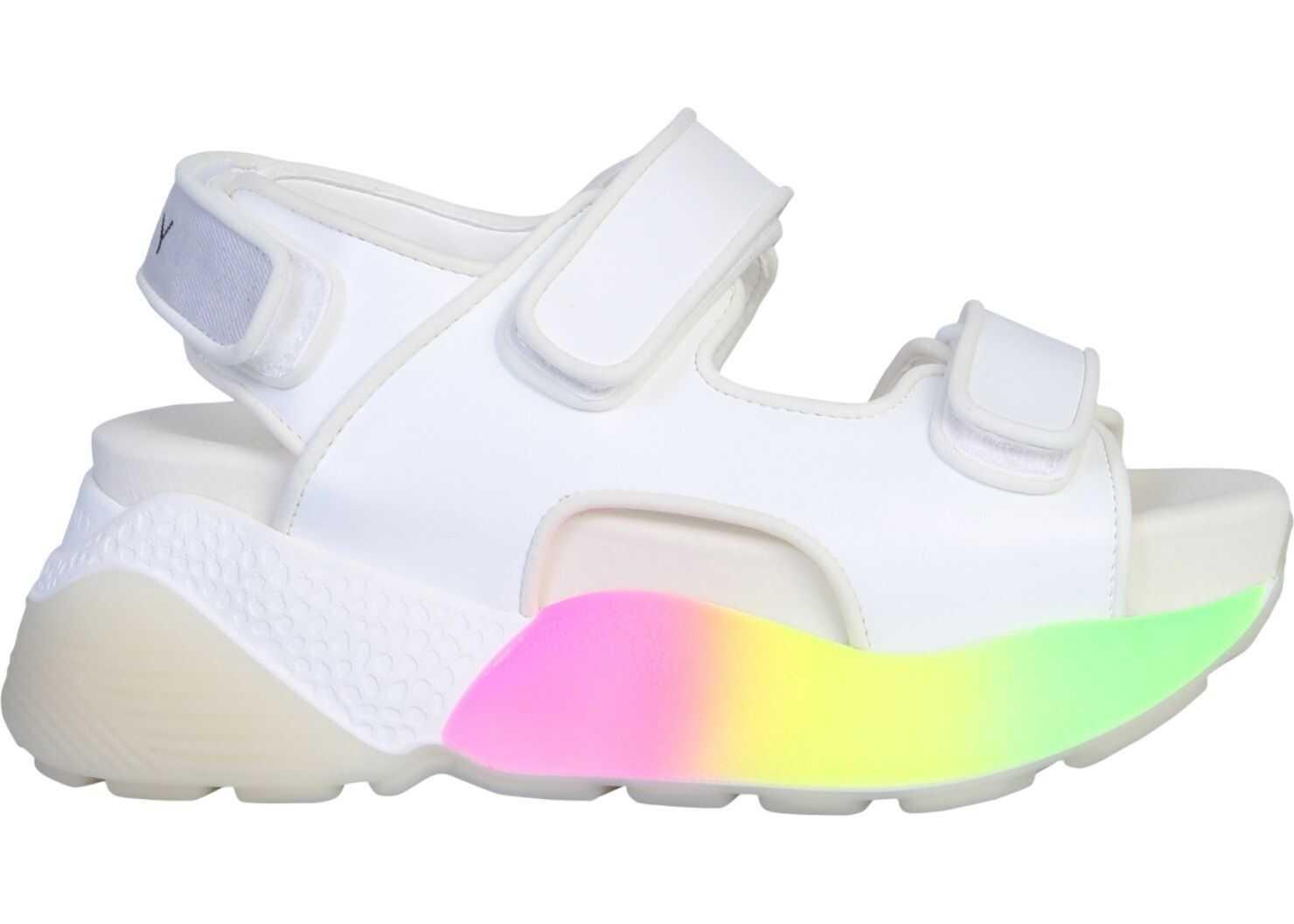 adidas by Stella McCartney Rainbow Sandal WHITE