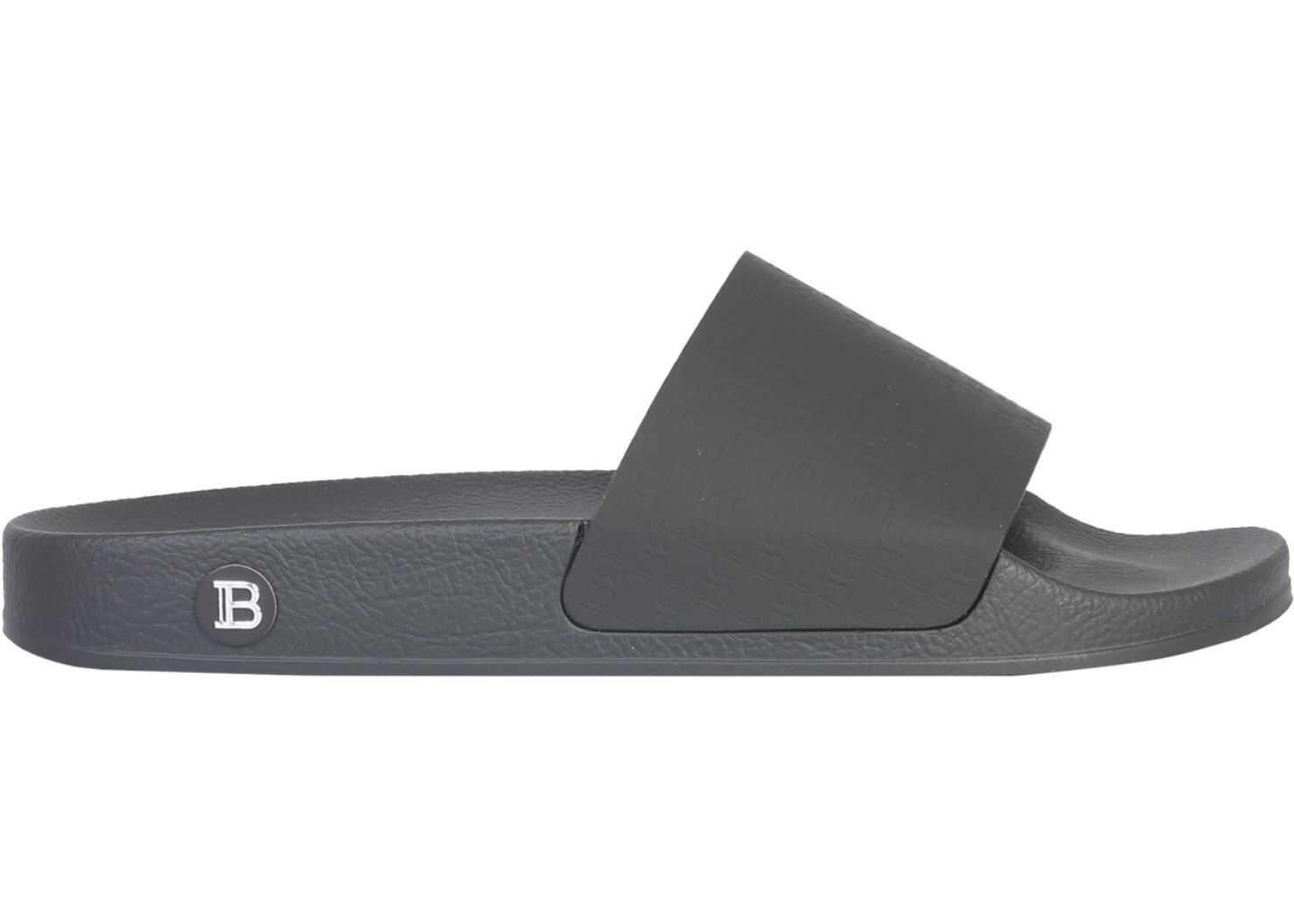 Balmain Slide Calypso Sandal BLACK