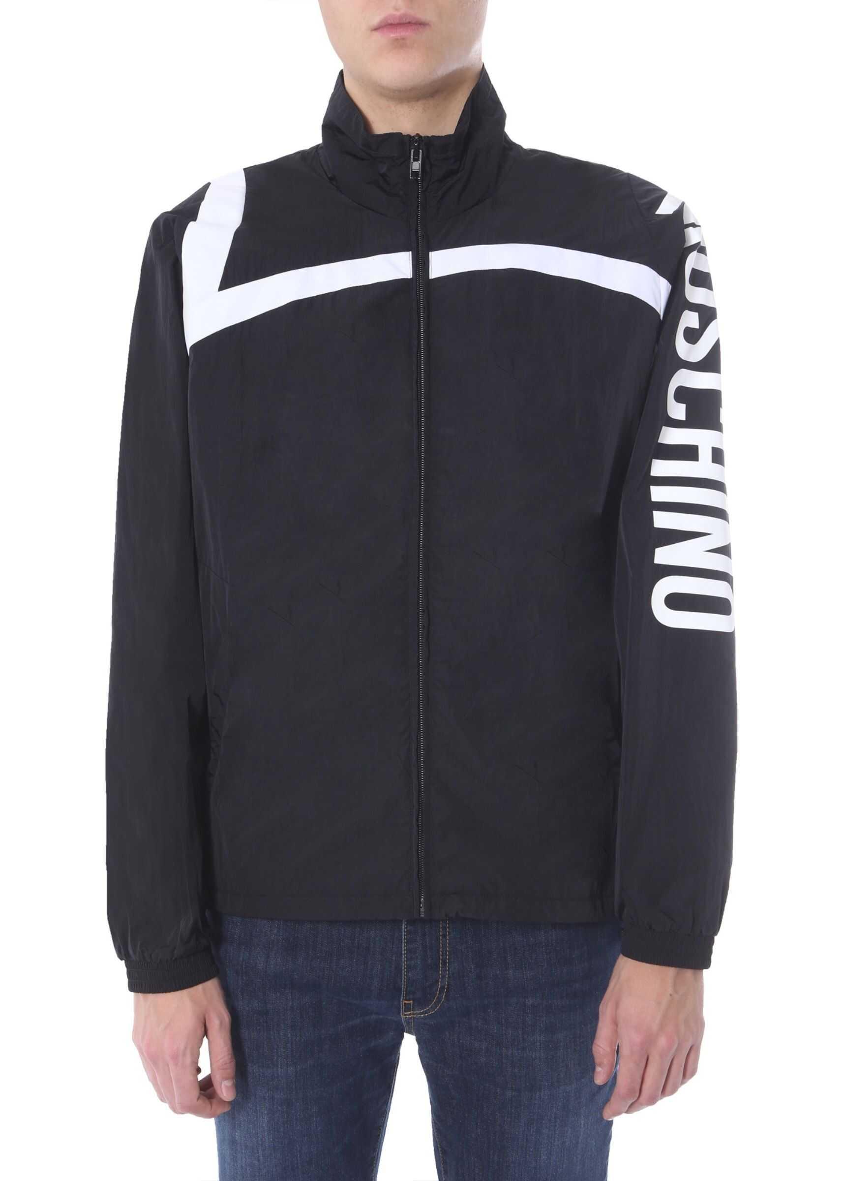 Moschino Jacket With Print BLACK imagine