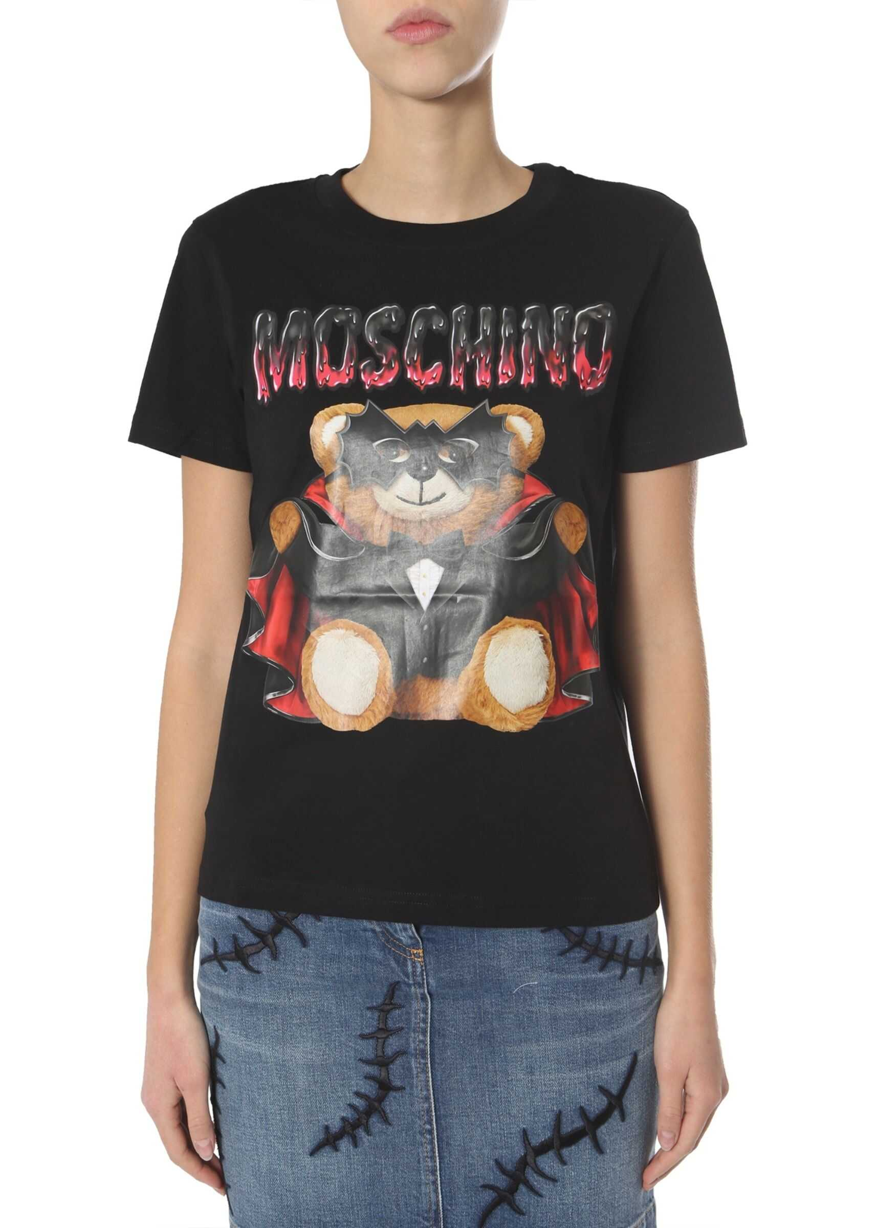 Moschino Round-Neck T-Shirt BLACK