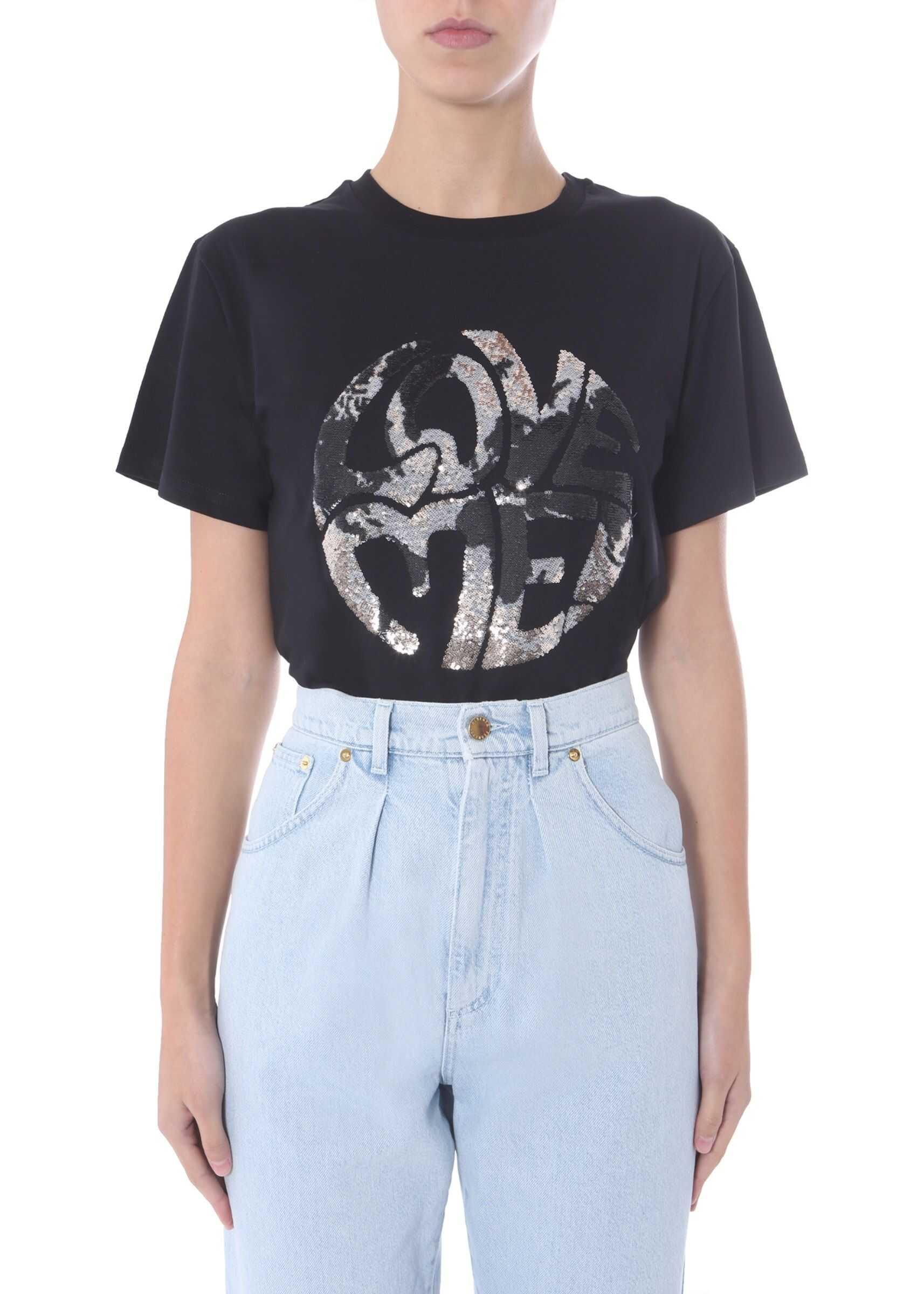 Alberta Ferretti Round Neck T-Shirt BLACK