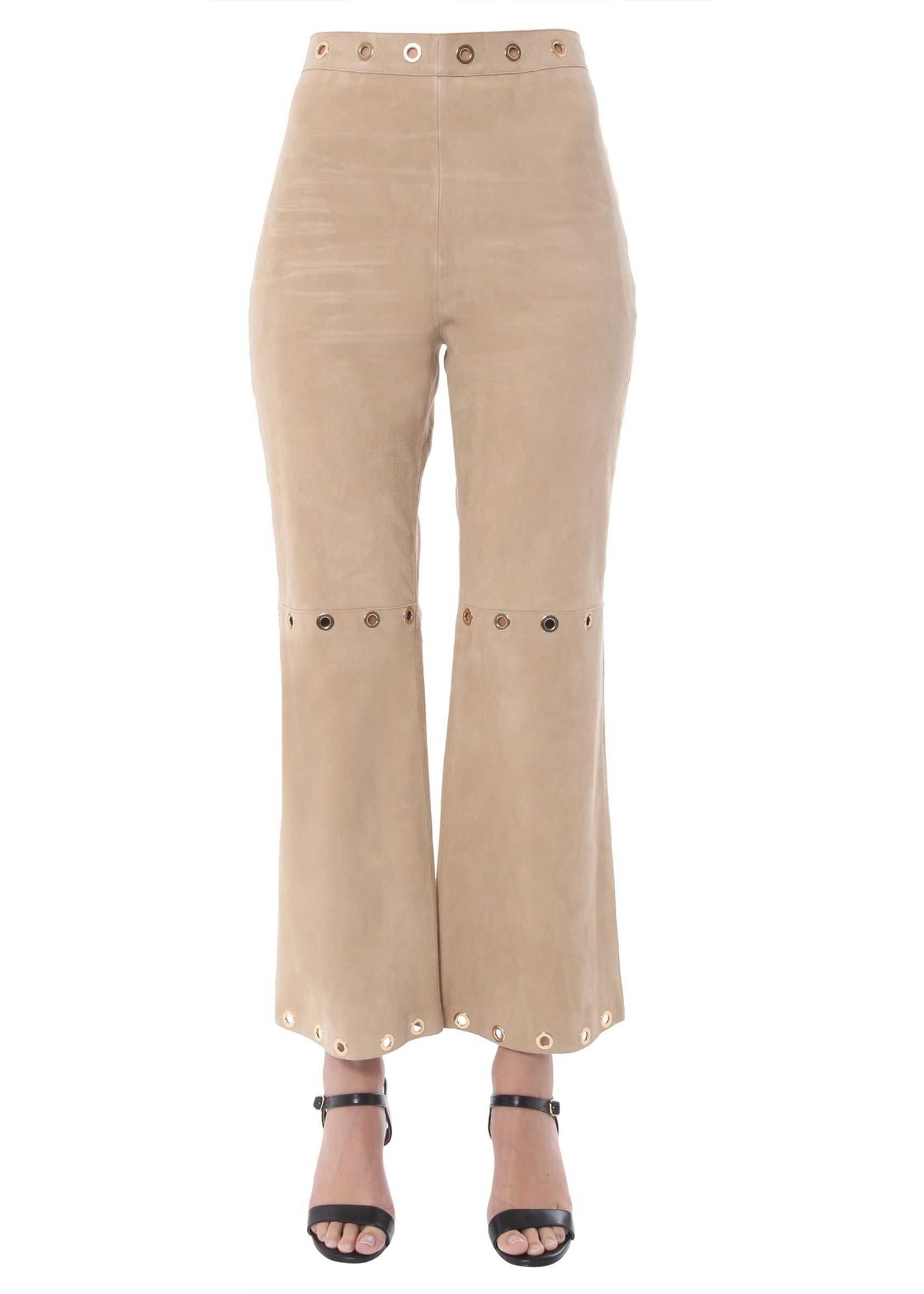 Alberta Ferretti Suede Trousers BROWN