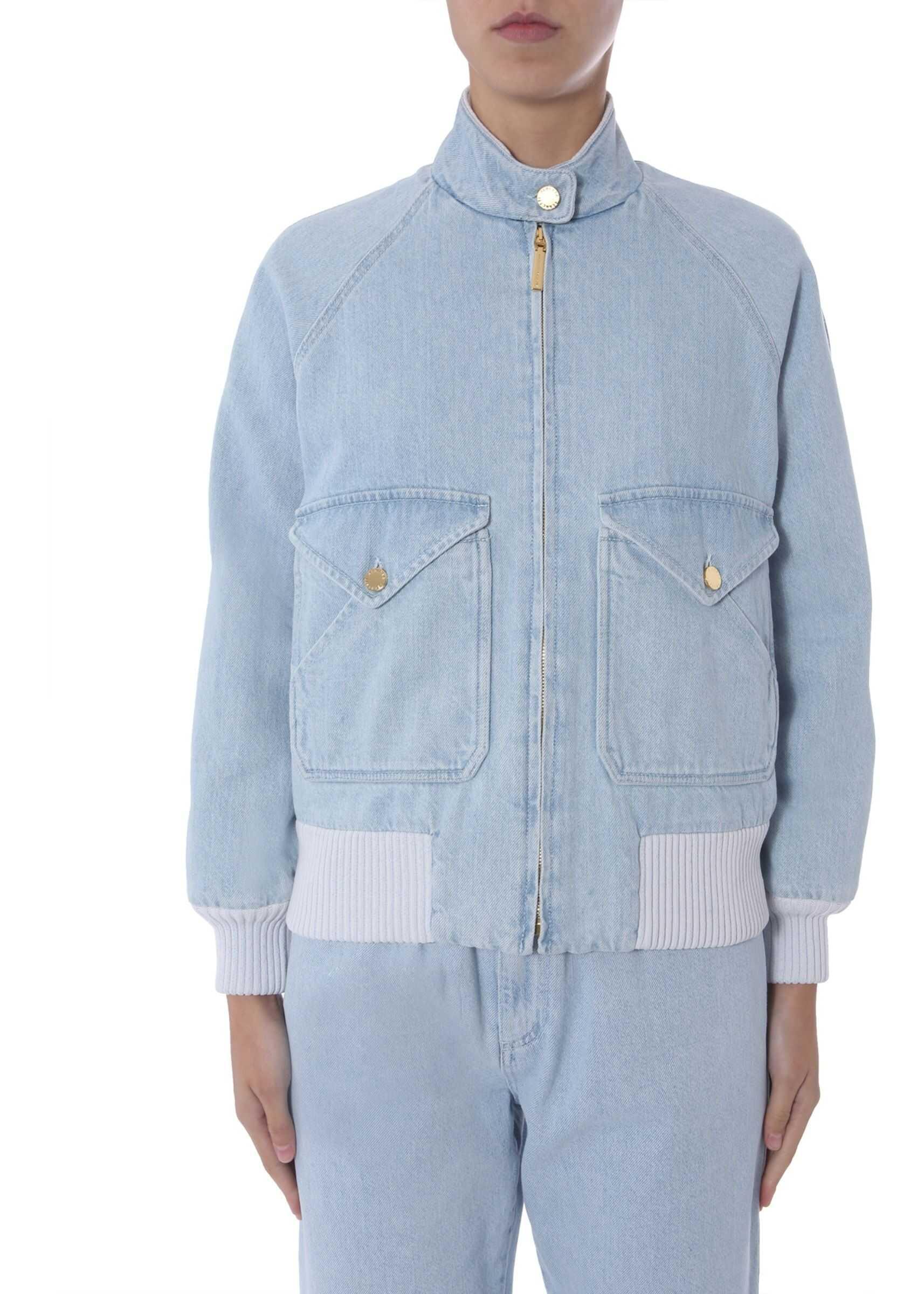 Alberta Ferretti Jacket With Zip BABY BLUE