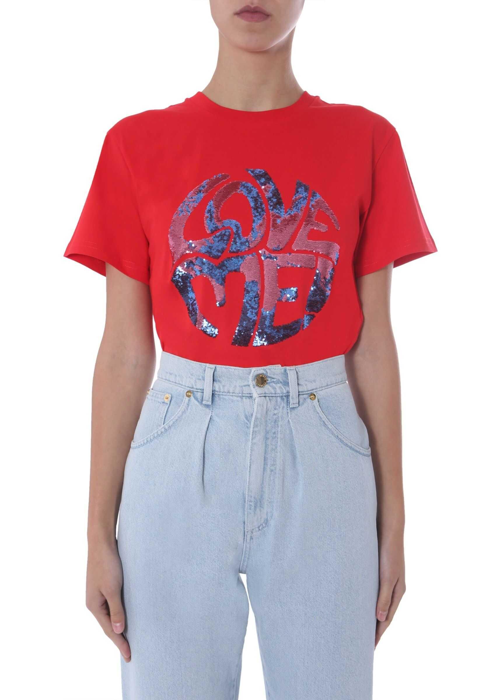 Alberta Ferretti Round Neck T-Shirt RED