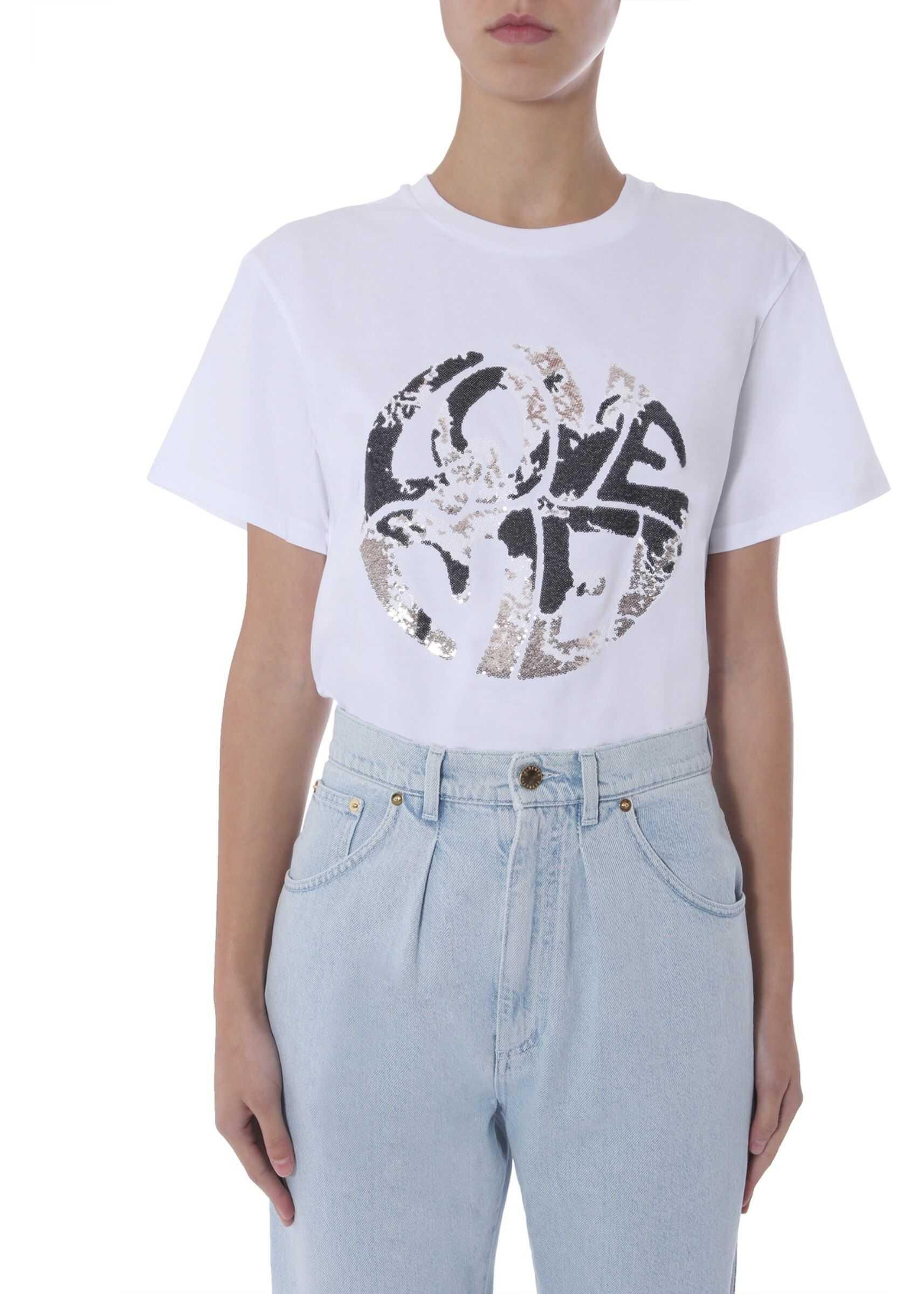 Alberta Ferretti Crew Neck T-Shirt WHITE