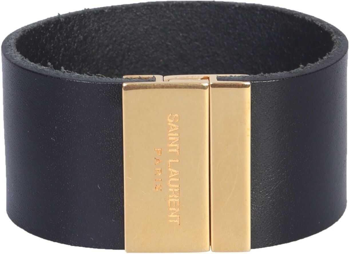 Saint Laurent Magnetic Plate Bracelet BLACK