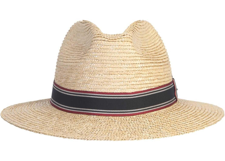 Saint Laurent Panama Hat With Tape NUDE