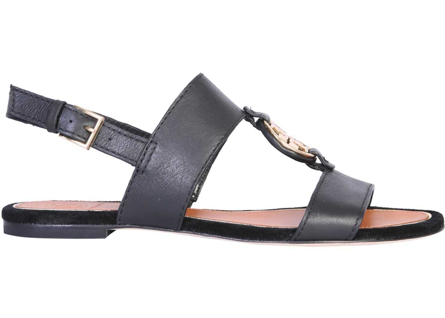 Tory Burch Sandal With Logo BLACK
