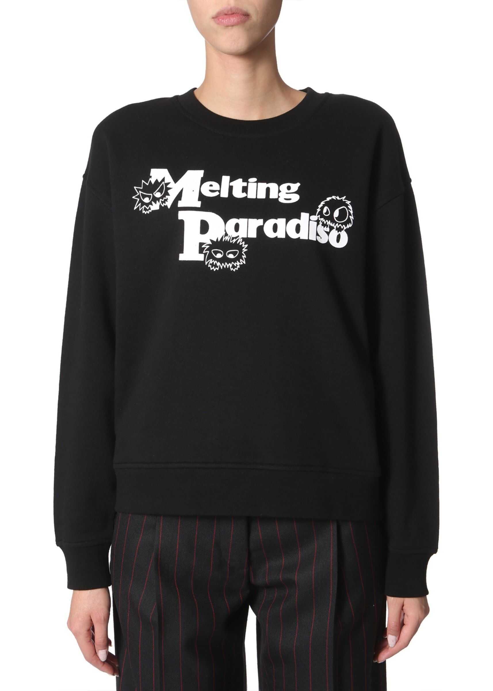 MCQ Alexander McQueen Round Neck Sweatshirt BLACK