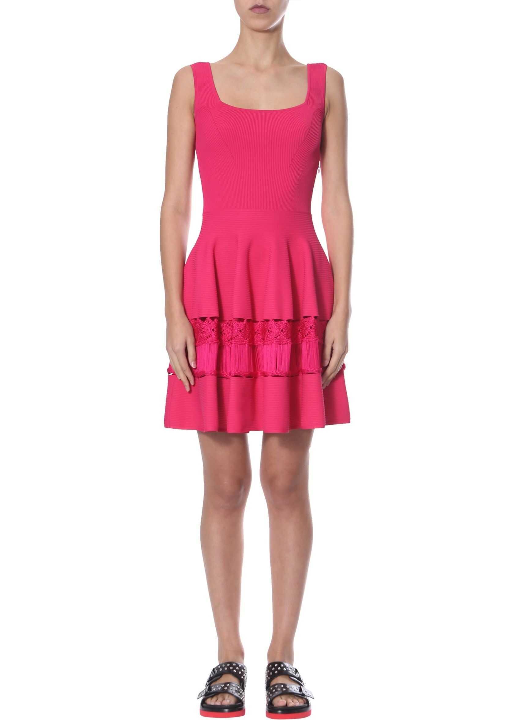 Alexander McQueen Knit Dress FUCHSIA