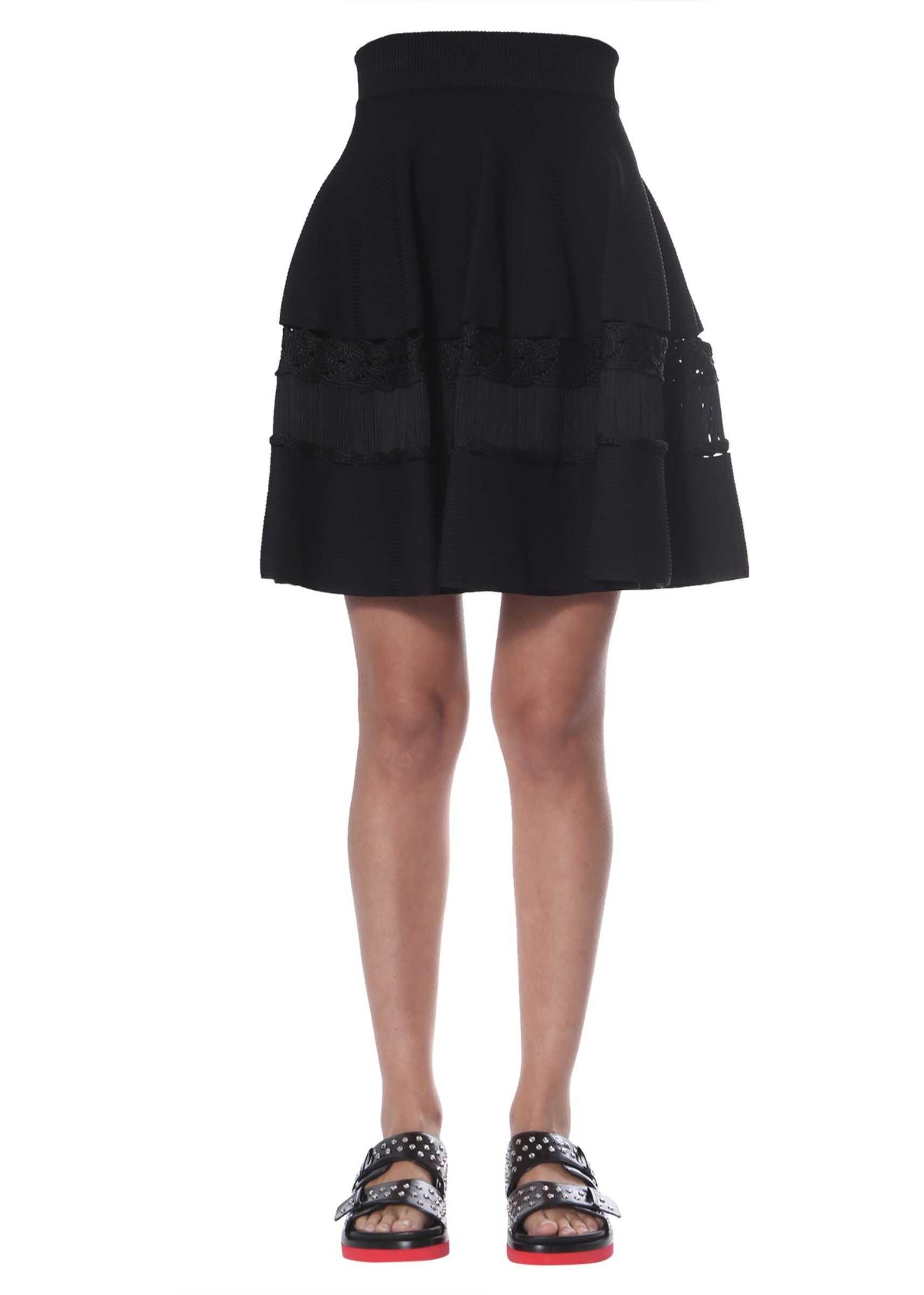 Alexander McQueen Knitted Skirt BLACK