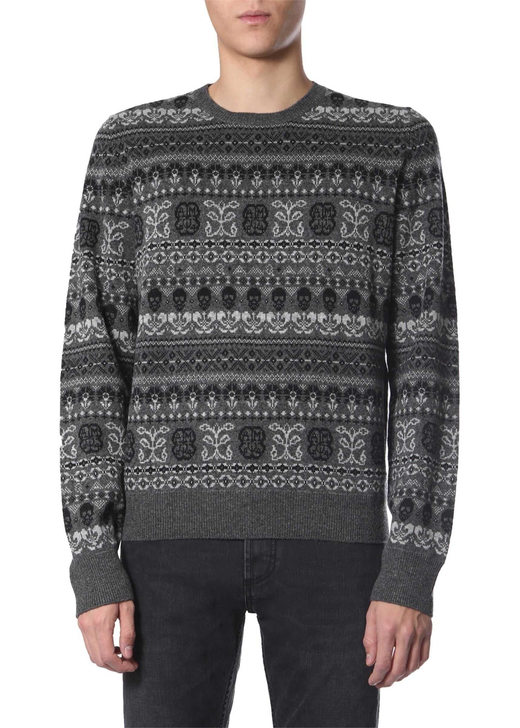 Alexander McQueen Crew Neck Sweater GREY
