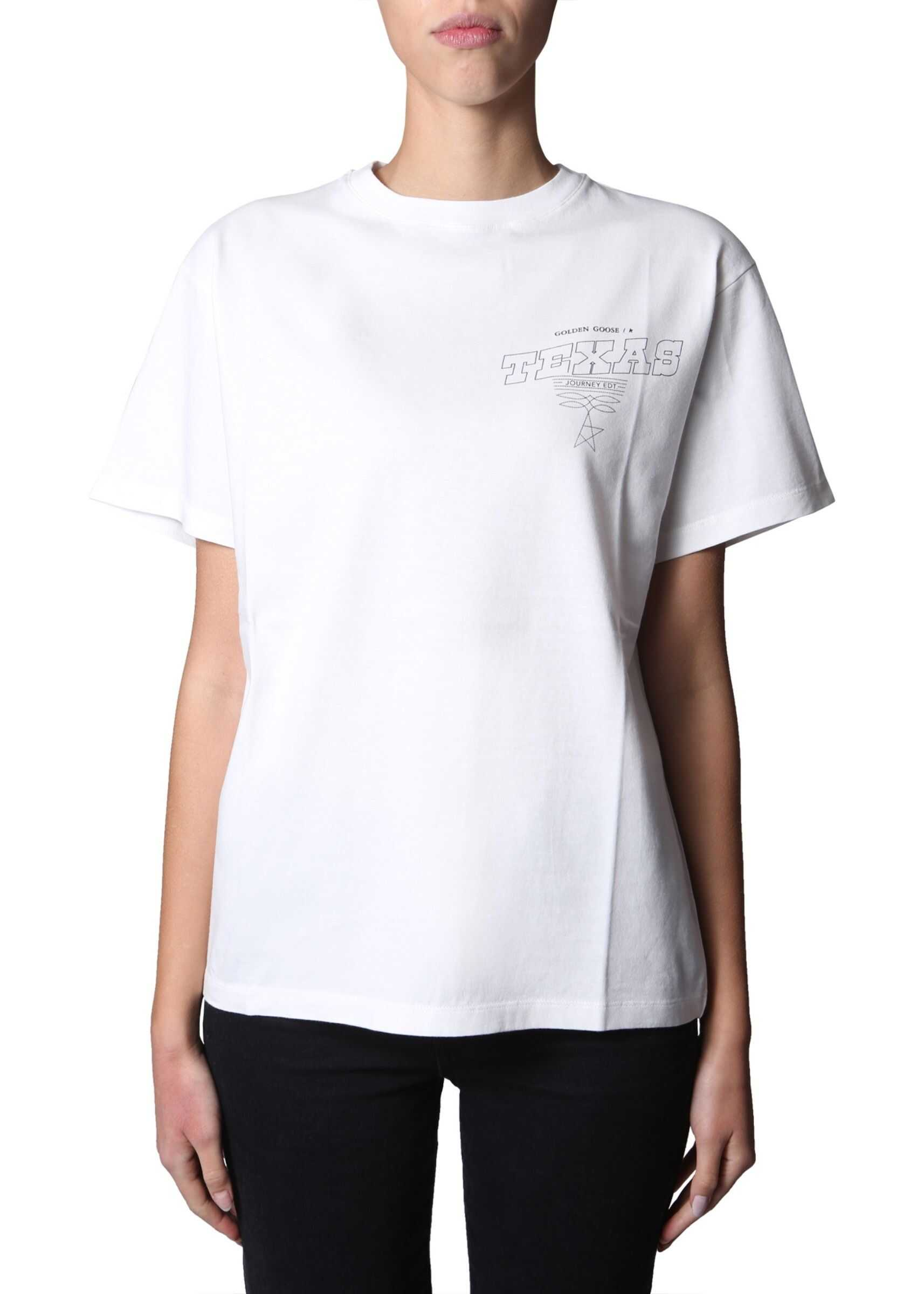 Golden Goose Round Neck T-Shirt WHITE