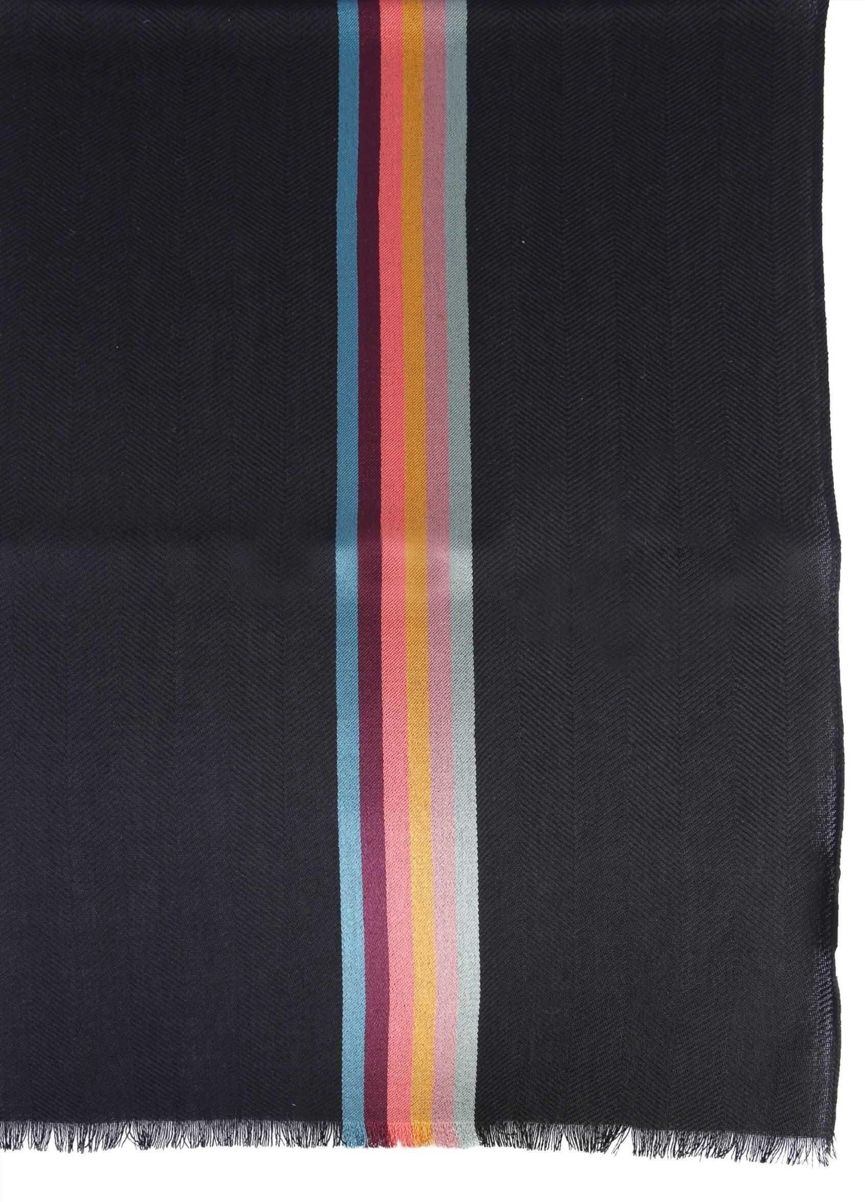Paul Smith Wool And Silk Scarf BLACK