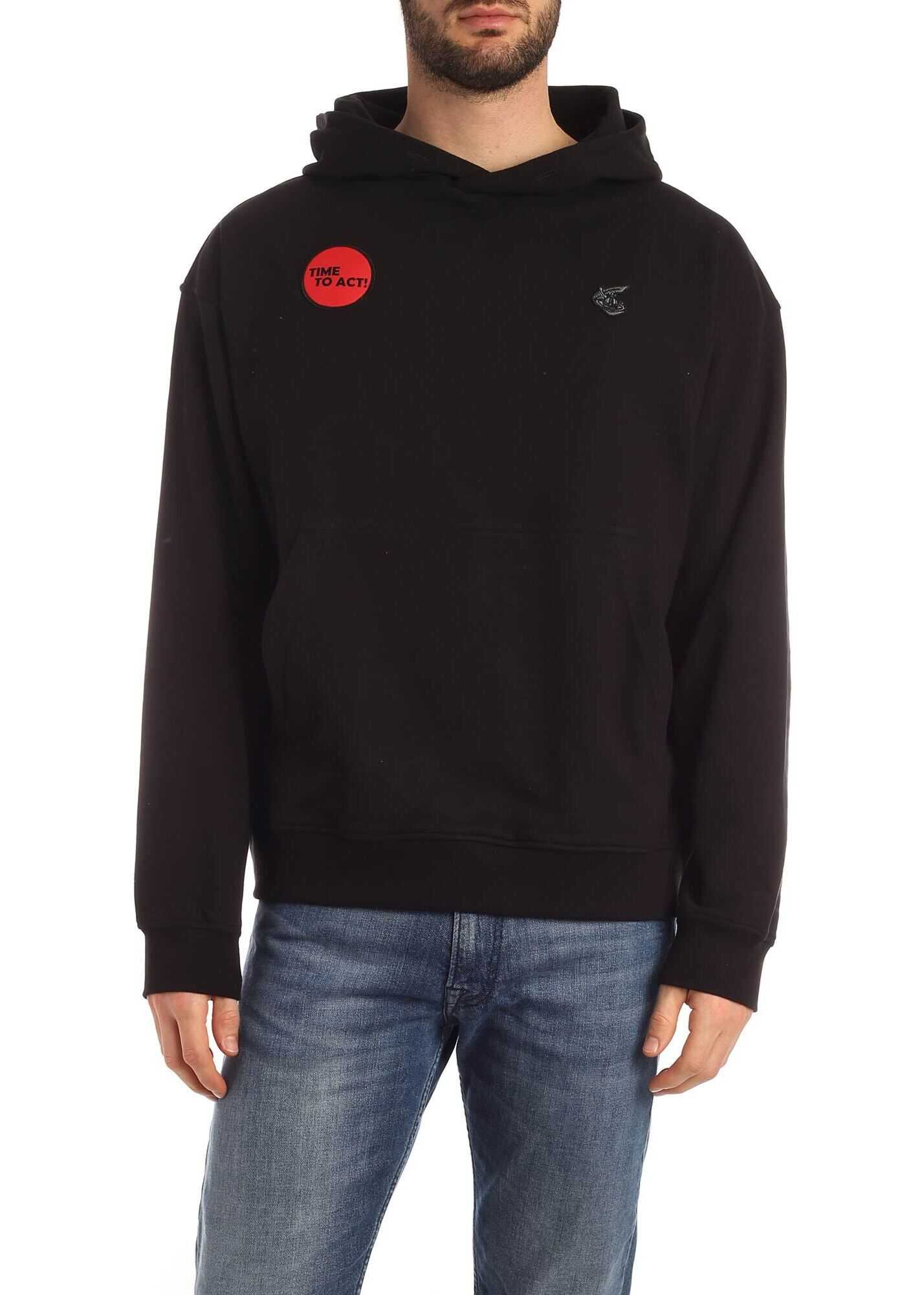 Vivienne Westwood Anglomania Time To Act Sweatshirt In Black Black