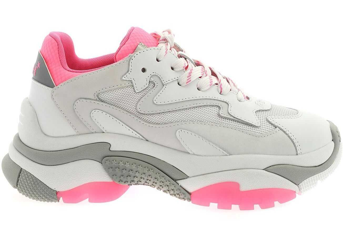 ASH Addict Sneakers In White And Fuchsia White