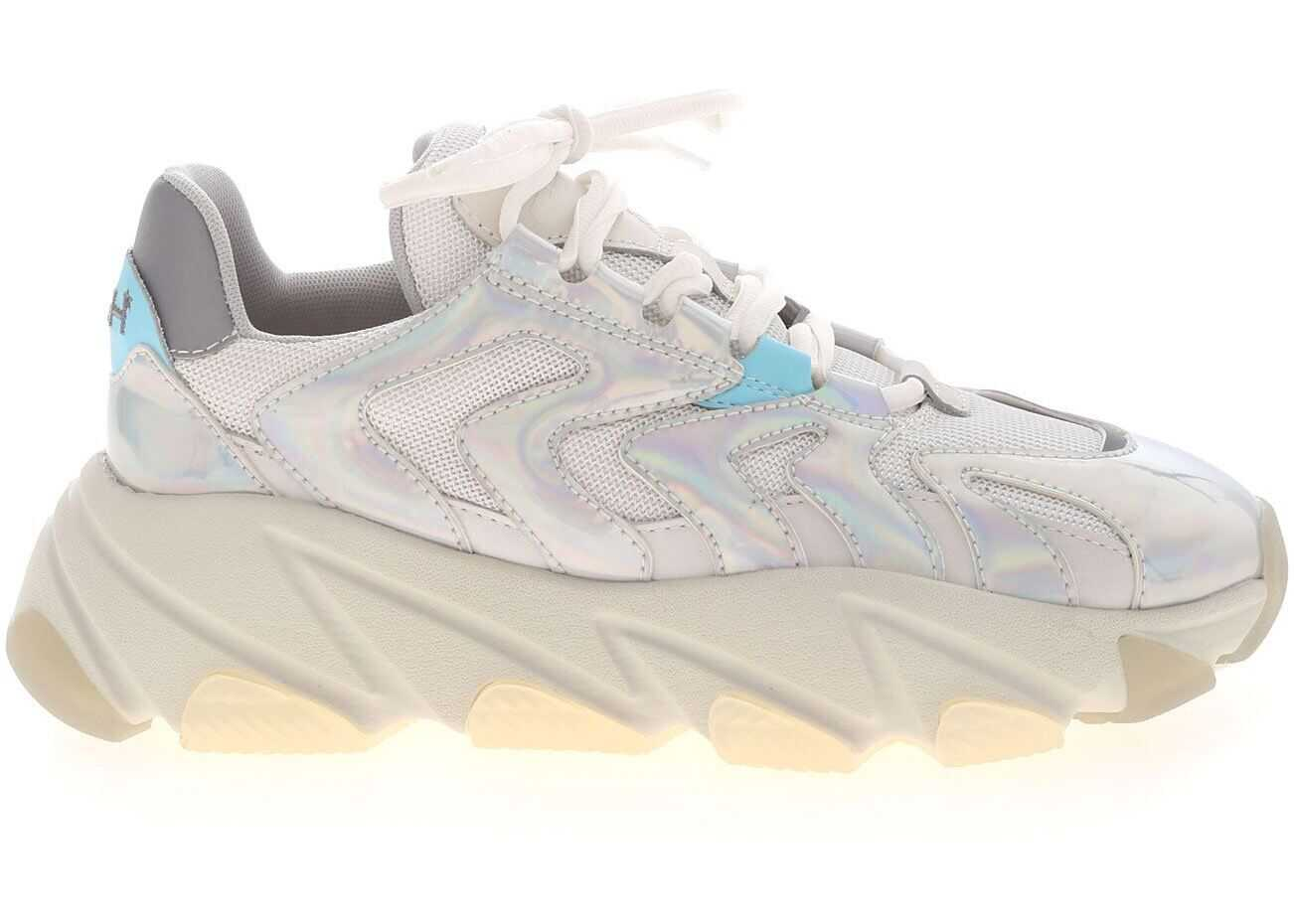 ASH Extreme Sneakers In White And Silver Silver