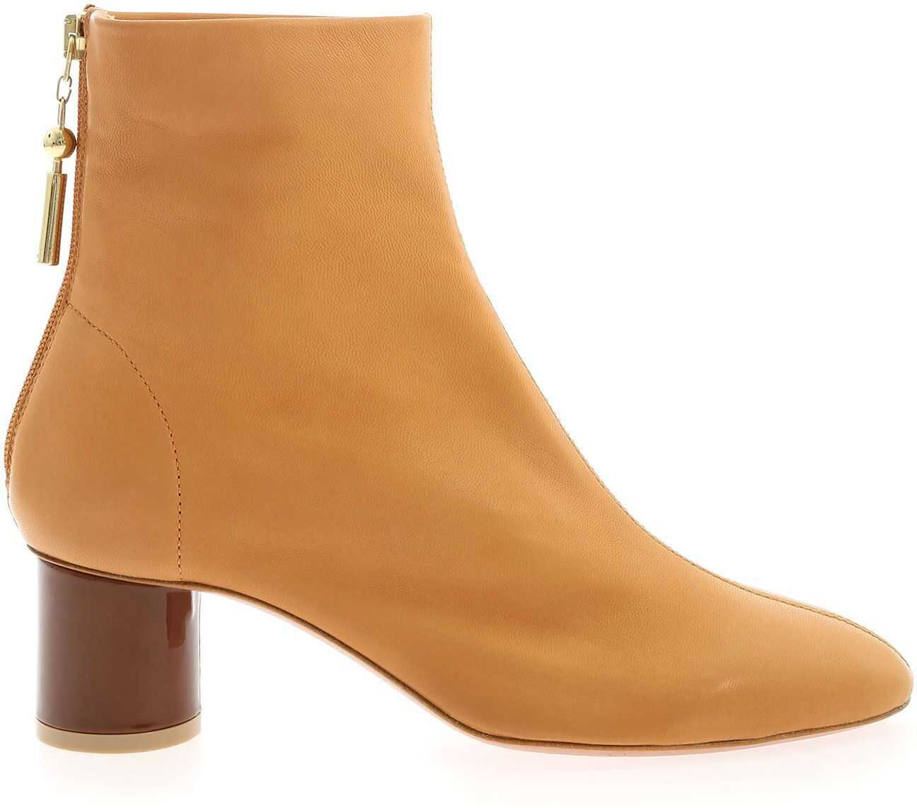 Anna Baiguera Annalia Ankle Boots In Light Brown Camel