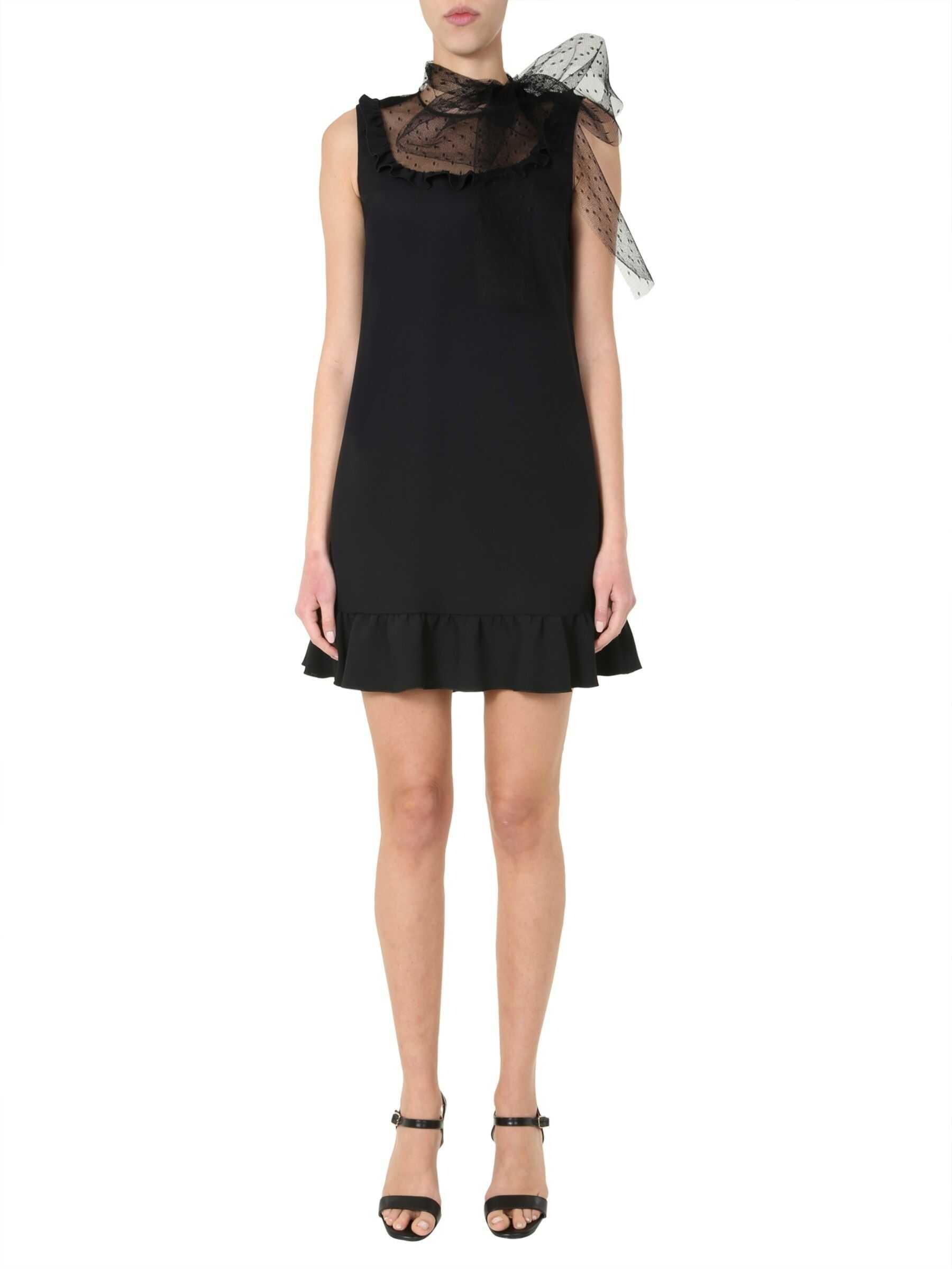 RED VALENTINO Midi Dress BLACK