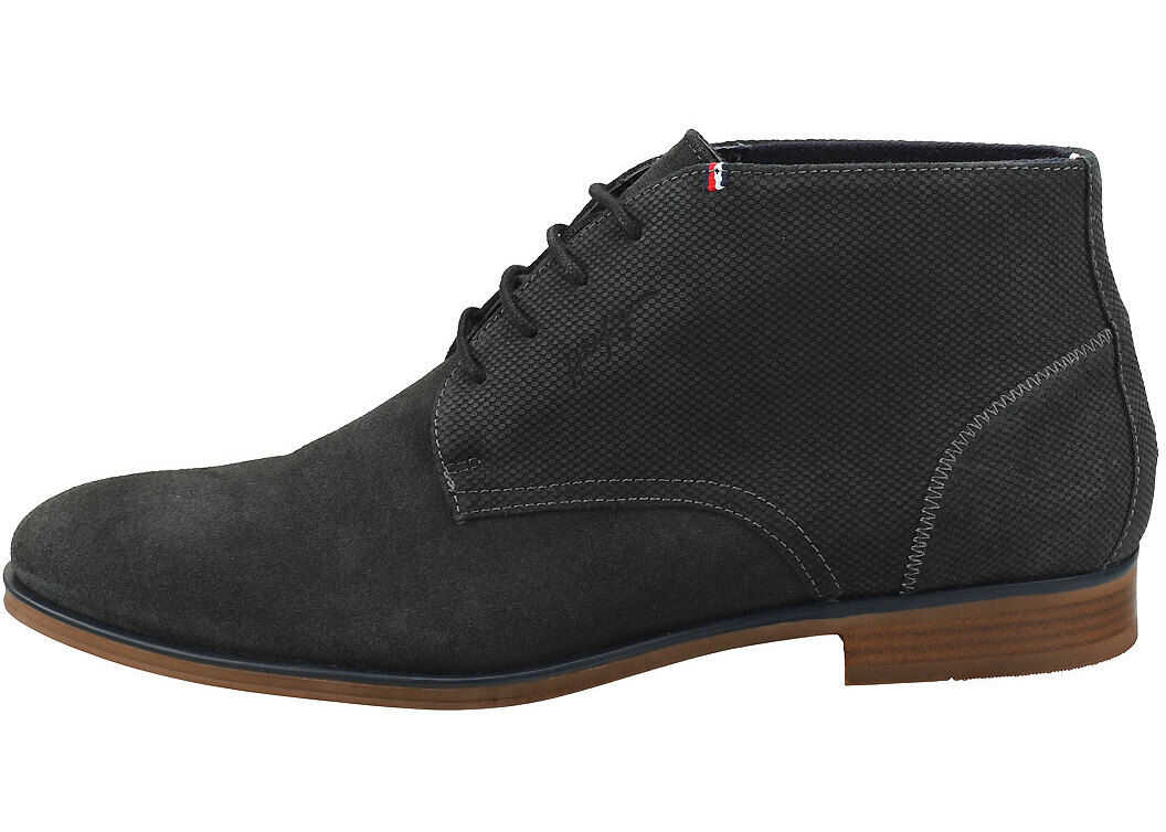 Tommy Hilfiger Casual Embossed Chukka Boots In Green Grey Green