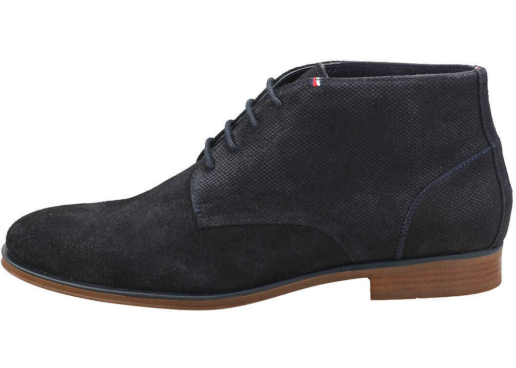 Tommy Hilfiger Casual Embossed Chukka Boots In Desert Sky Blue