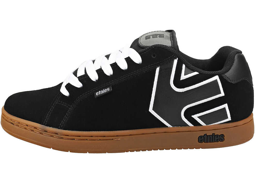 etnies Fader Skate Trainers In Black White Black