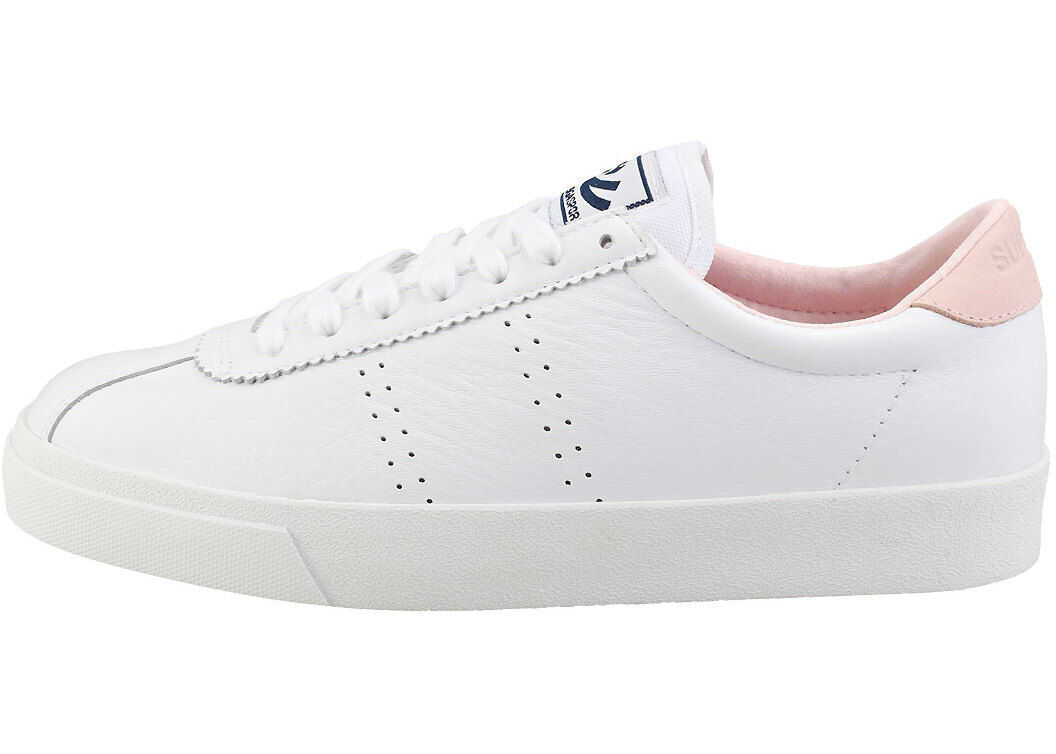 Superga 2843 Clubs Comfleau Fashion Trainers In White Pink White
