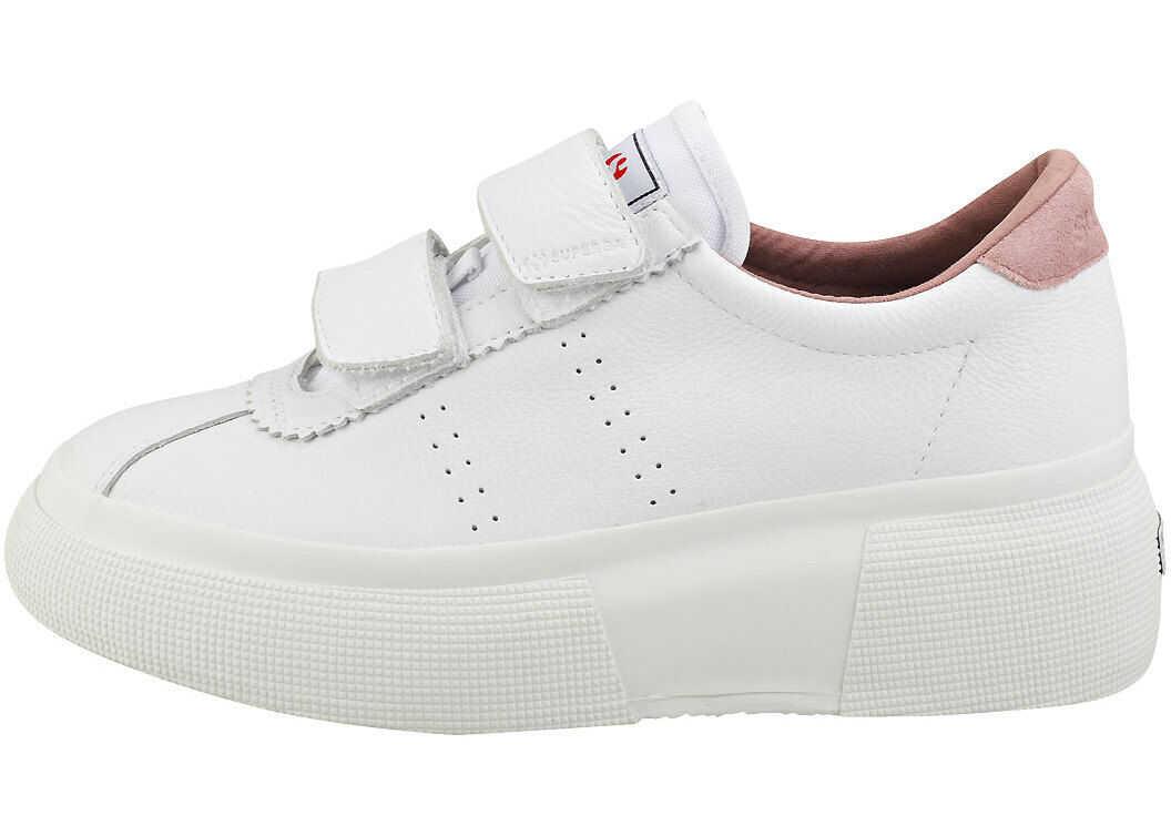 Superga Club5 Comfleastrapsw Platform Trainers In White White