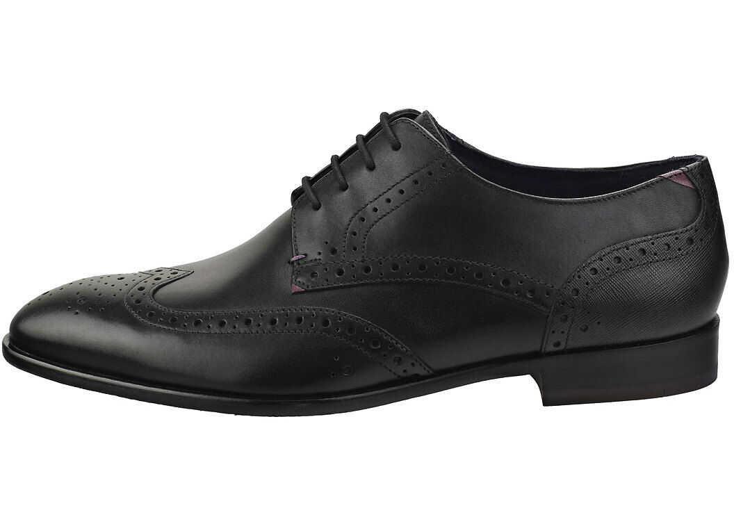 Ted Baker Trvss Brogue Shoes In Black Black