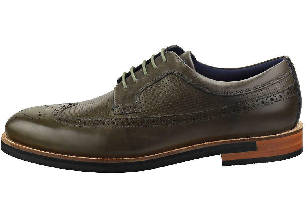 Dylunn Brogue Shoes In Khaki thumbnail