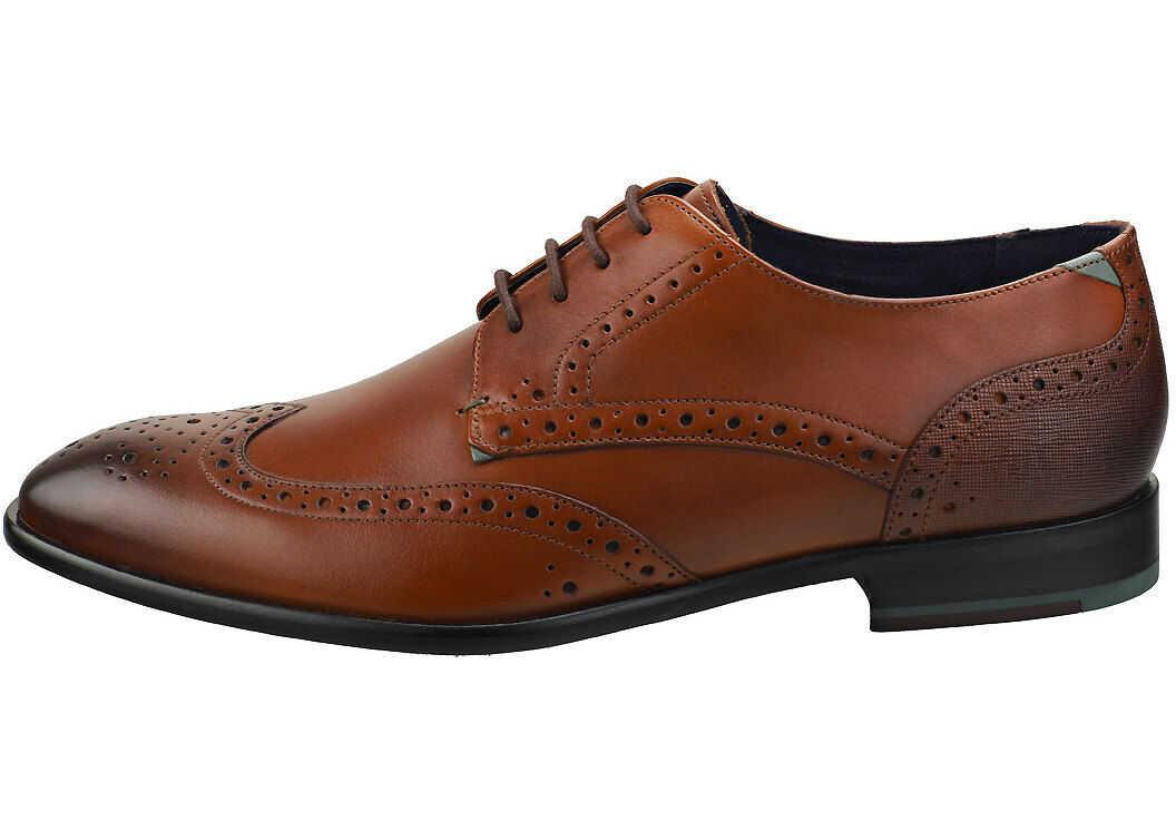 Trvss Brogue Shoes In Tan thumbnail