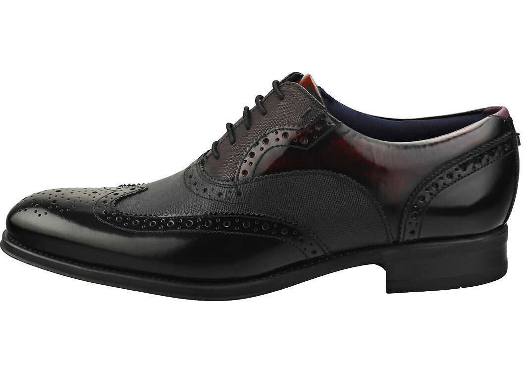 Ted Baker Muktti Brogue Shoes In Black Black